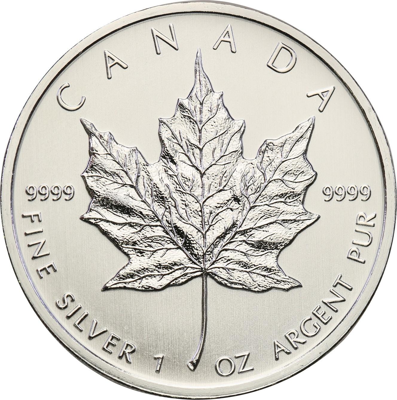 Kanada 5 dolarów listek SREBRO 1 uncja różne roczniki