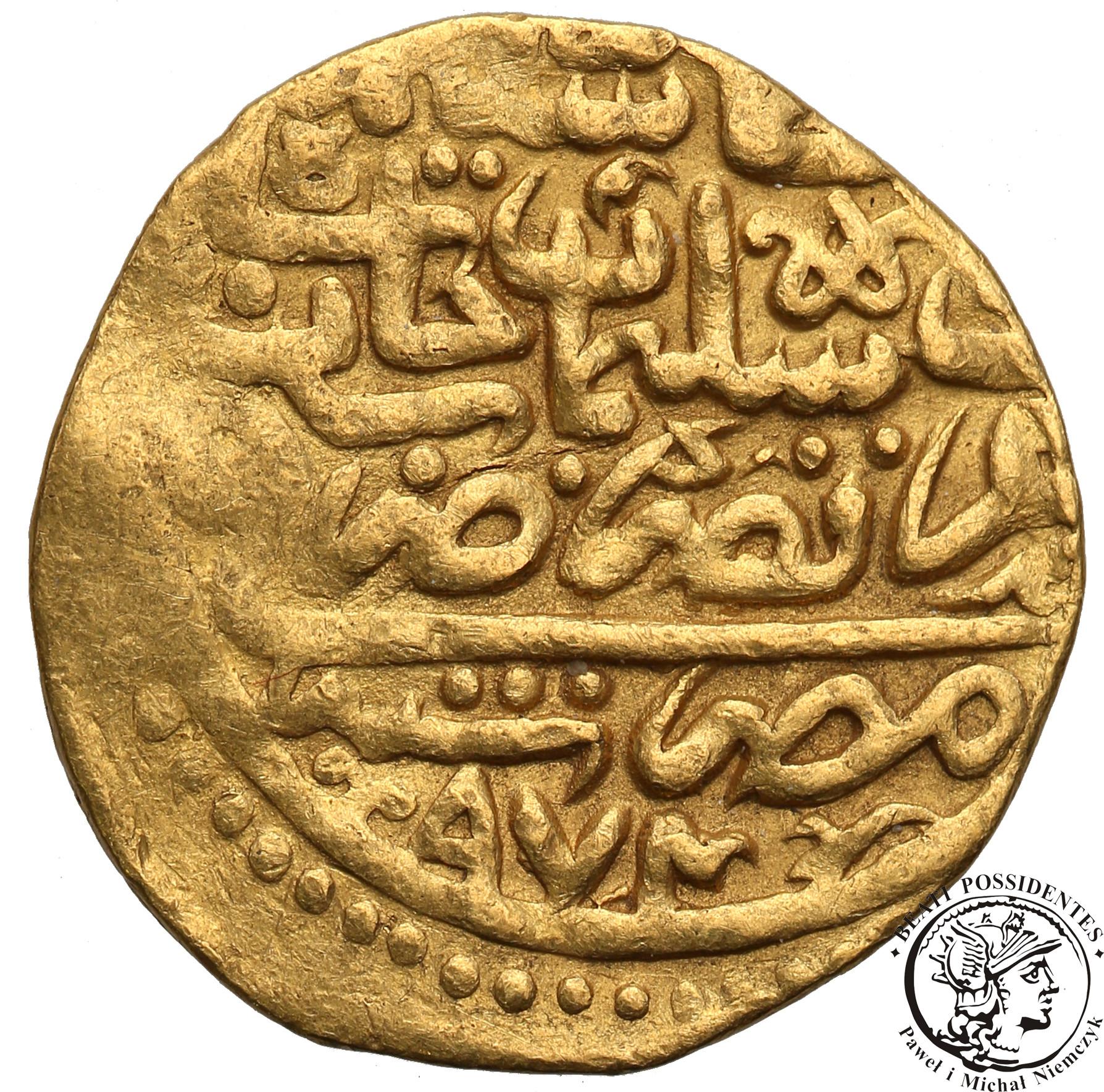 Egipt Selim II 1566-74 ałtyn AH 974 (1566) st.3+