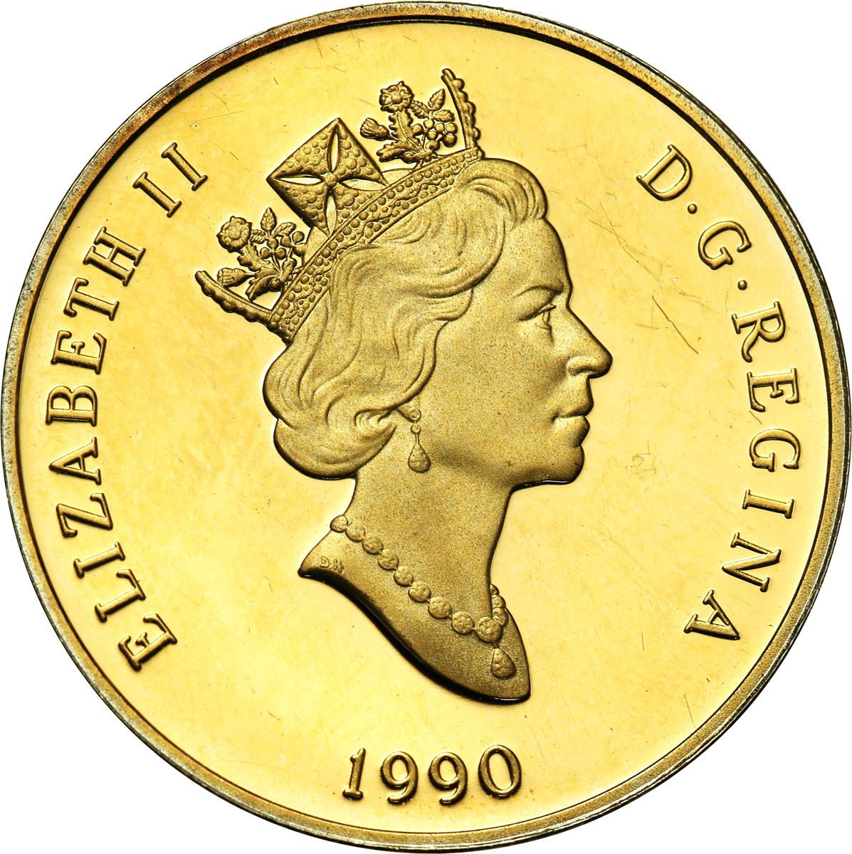 Kanada Elżbieta II 100 dolarów 1990 Dzieci 1/4 uncji złota st. L-
