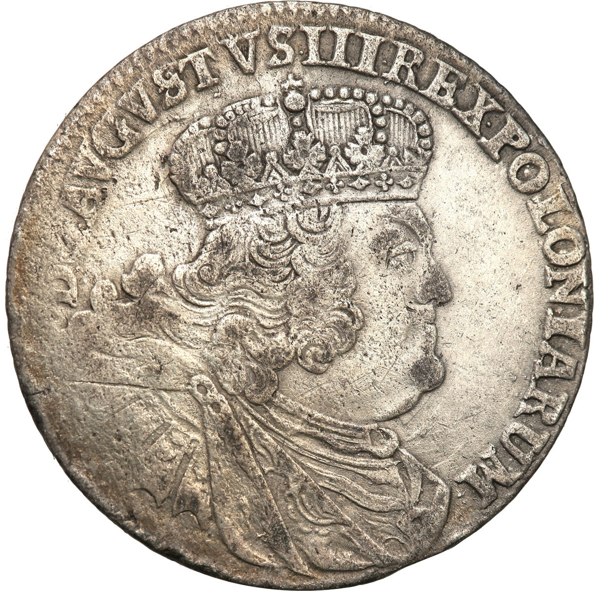 Polska August III Sas dwuzłotówka kor 1761 RRR st. 3