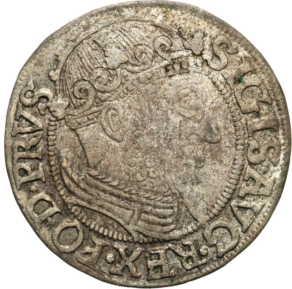 Poland Zygmunt II August grosz 1557 Gdańsk st.3+