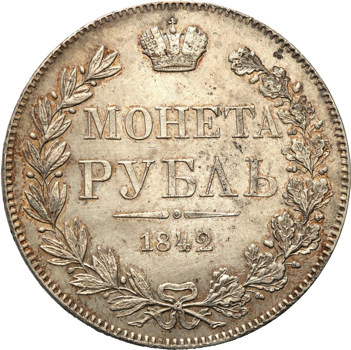 XIX w. Rubel 1842 M-W Warszawa st. 2