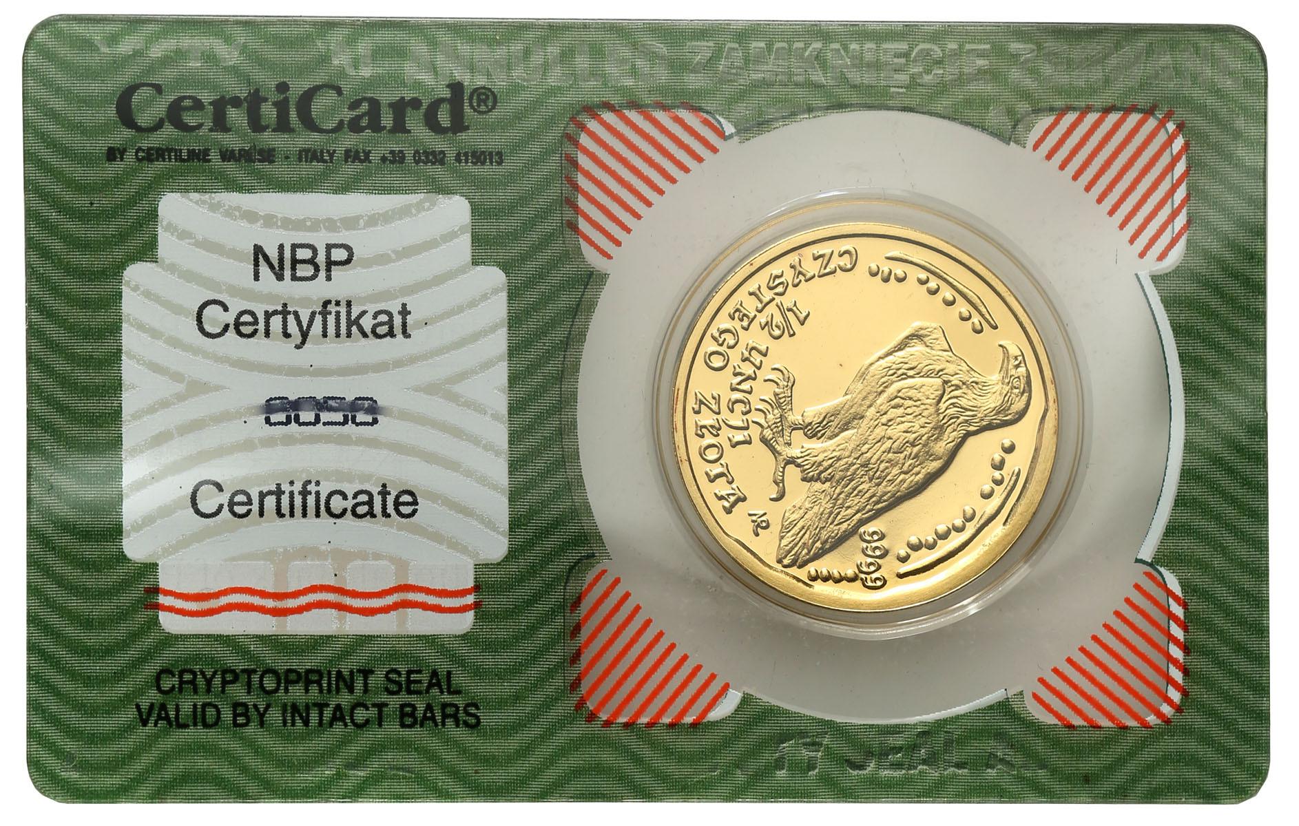 III RP 200 złotych 2004 Orzeł Bielik (1/2 uncja złota) st.L
