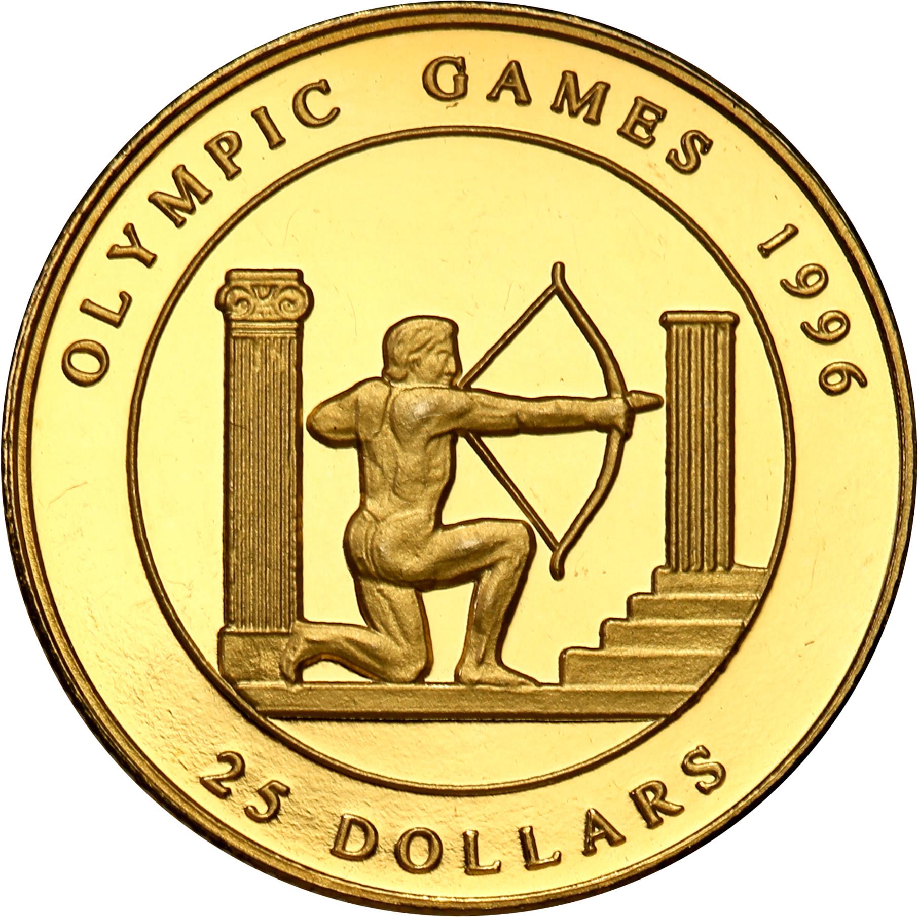 Wyspy Cooka. 25 dolarów 1995 Olimpiada Atlanta st.L