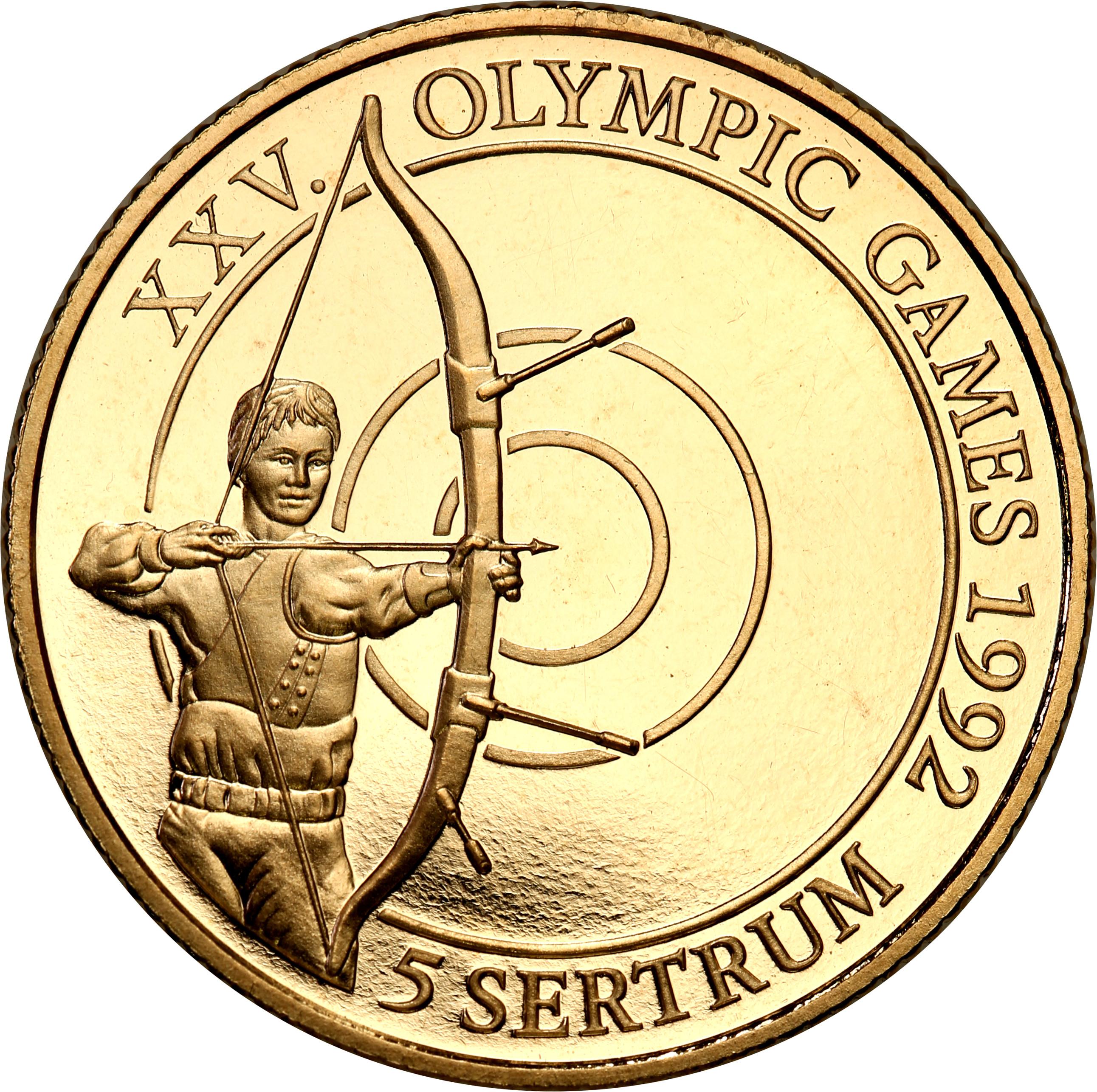 Bhutan 5 sertrum 1992 Olimpiada – Łucznictwo st.L