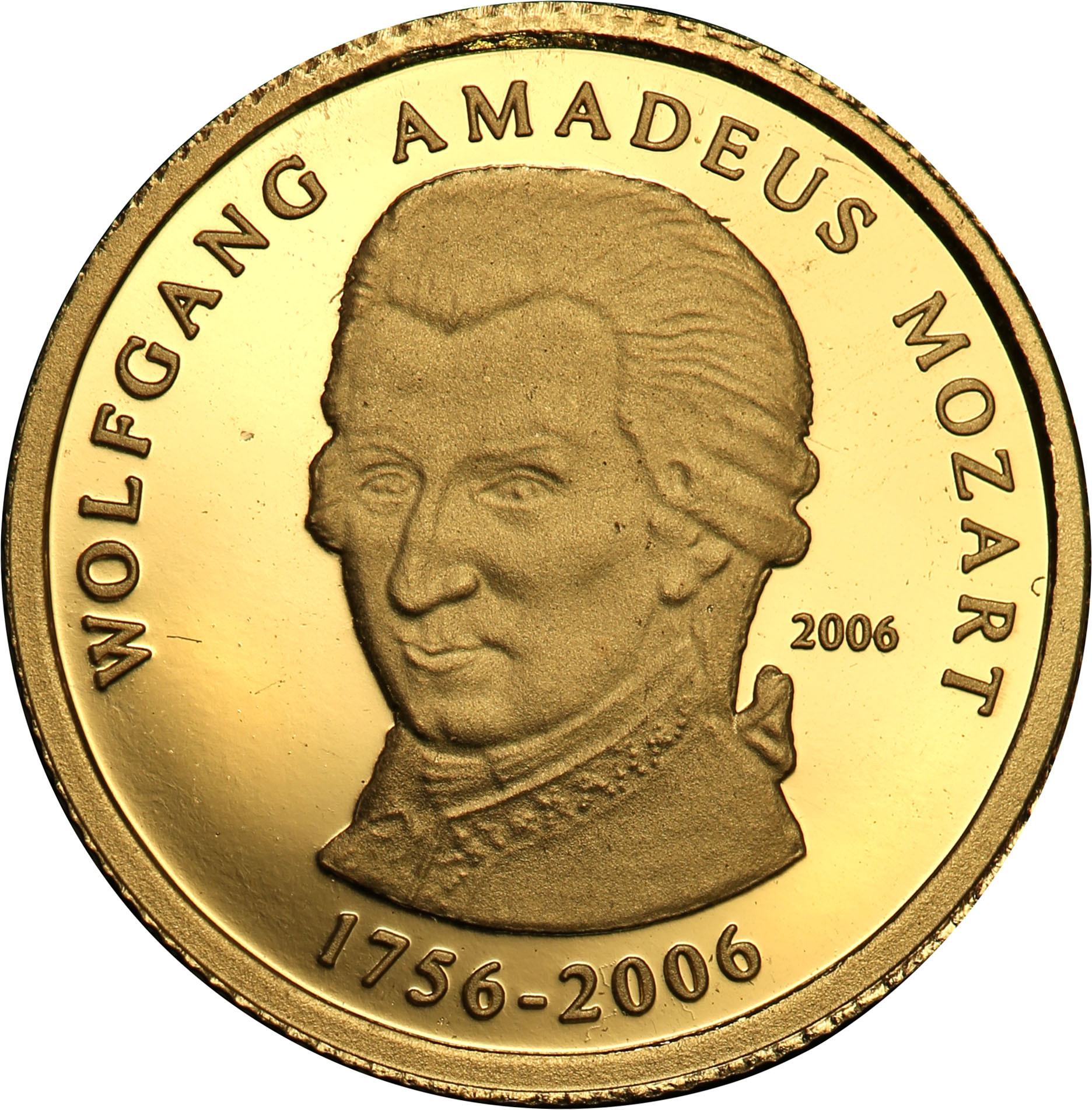 Rep. Togijska. 1500 franków 2006 Wolfang Amadeusz Mozart st.L