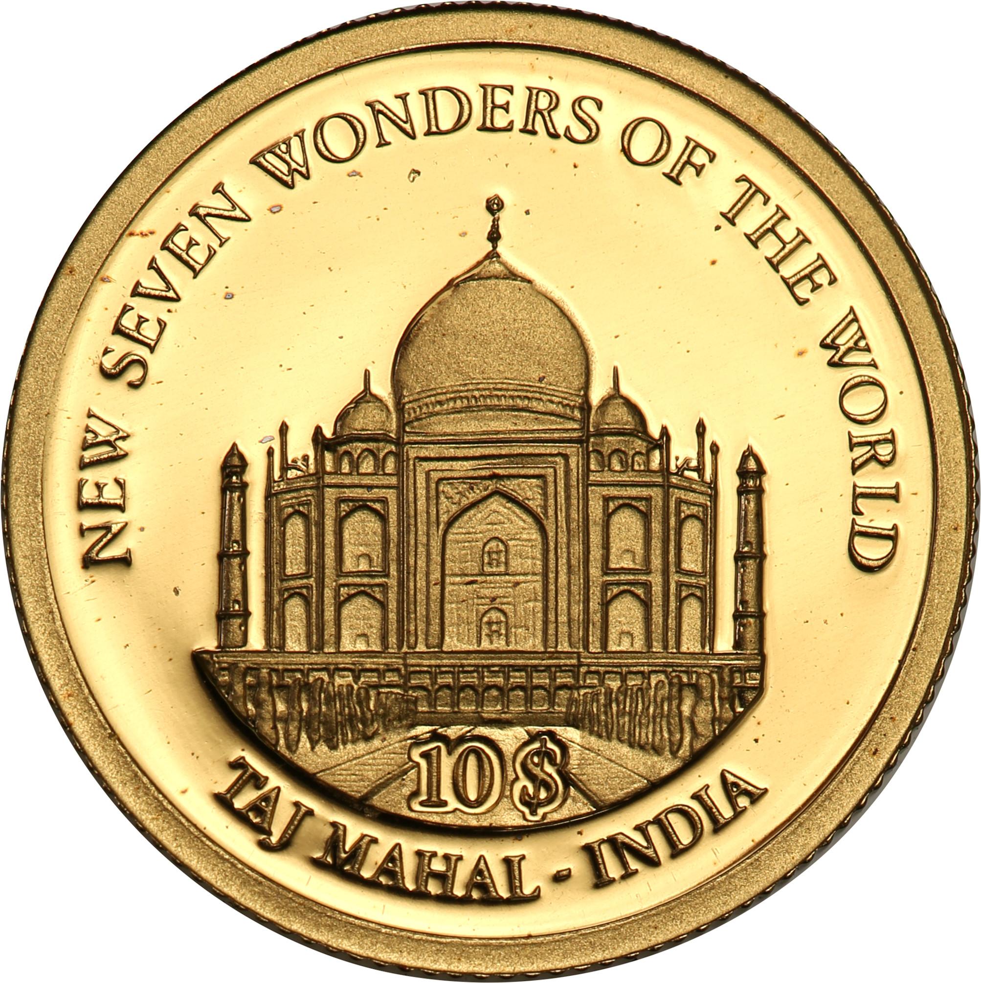 Wyspy Salomona. 10 dolarów Wysp Salomona 2007 Taj Mahal st.L
