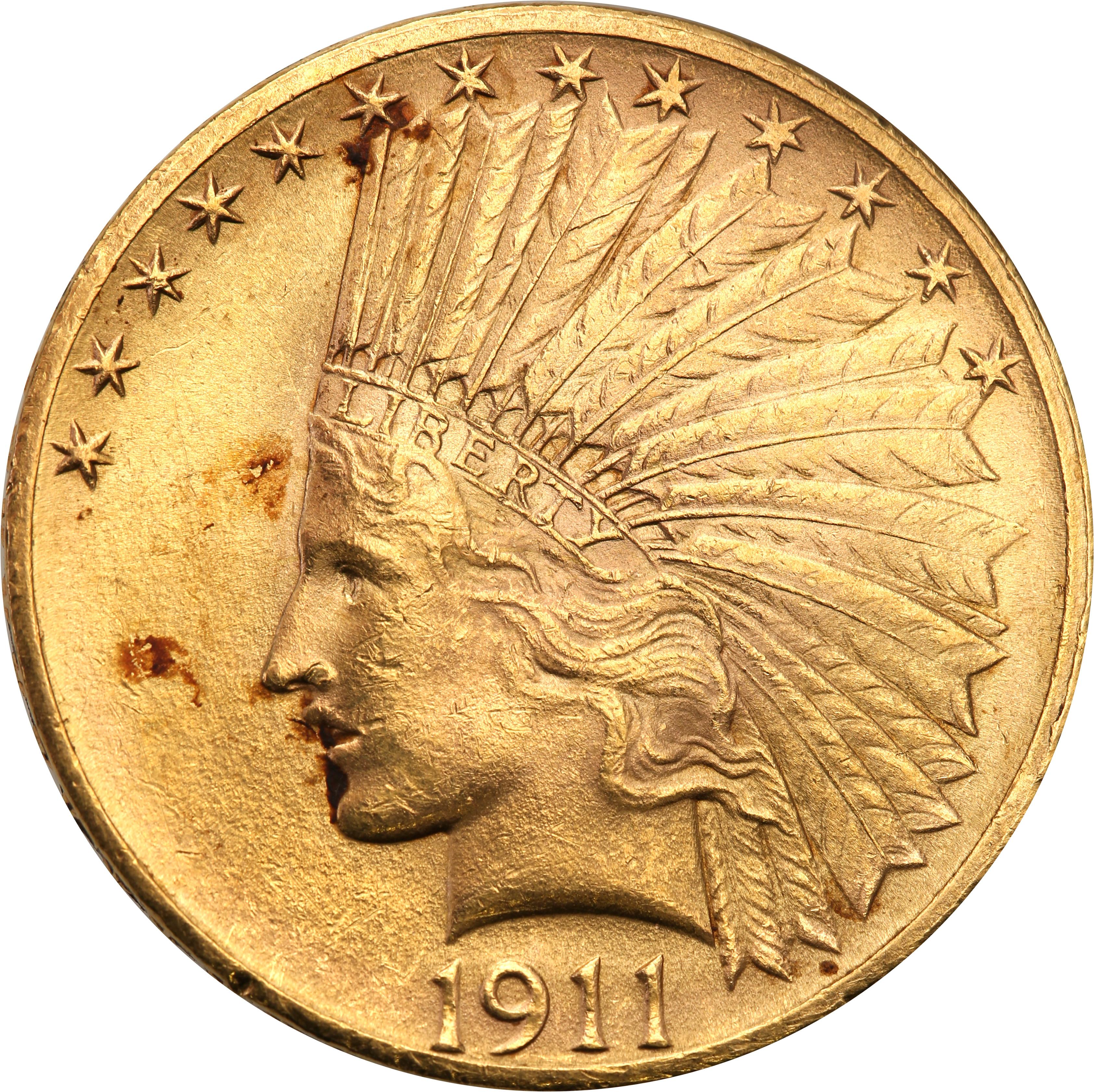 USA 10 $ dolarów Indianin 1911 Philadelphia st.1-