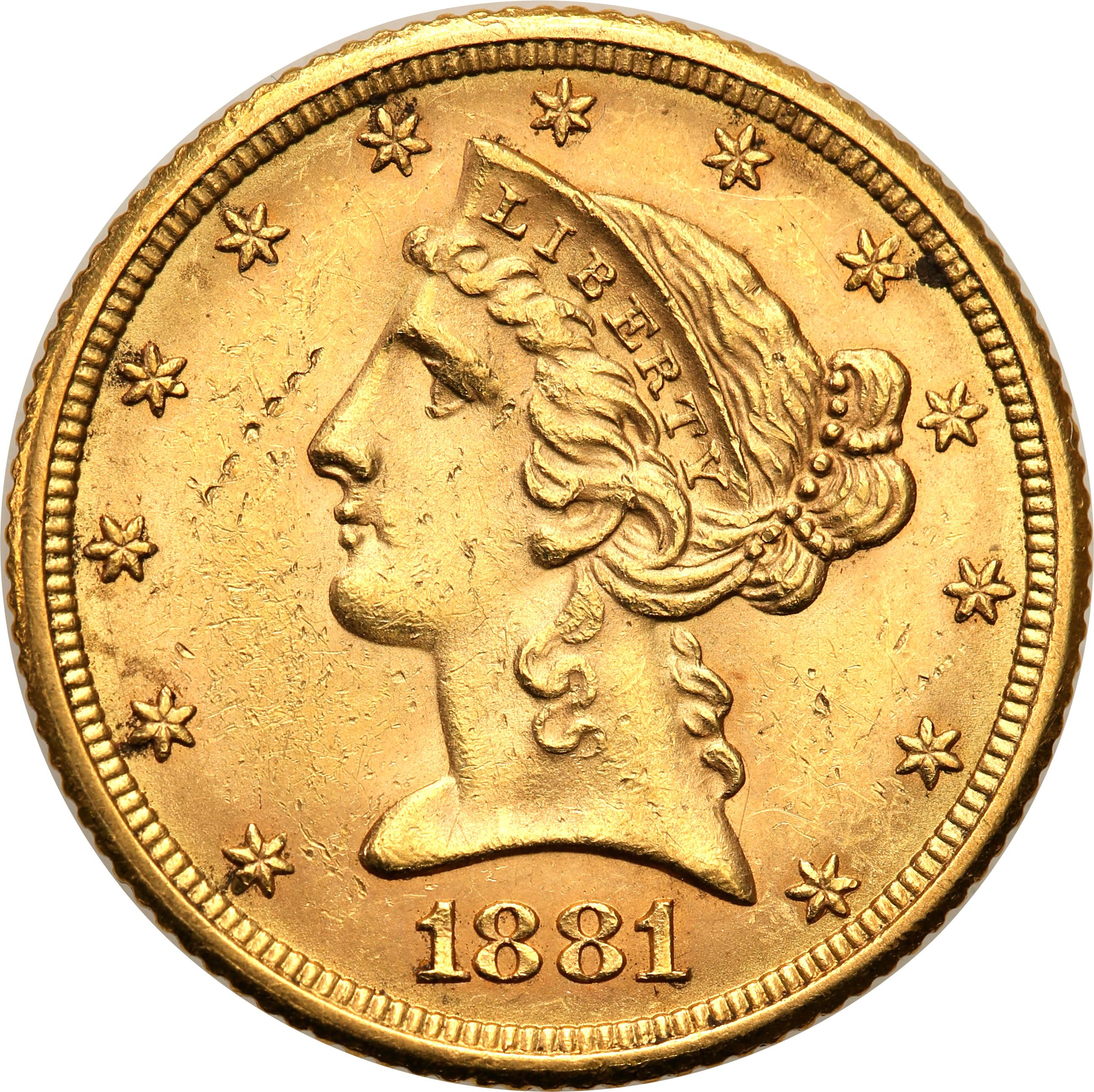 USA 5 dolarów 1881 st.2+
