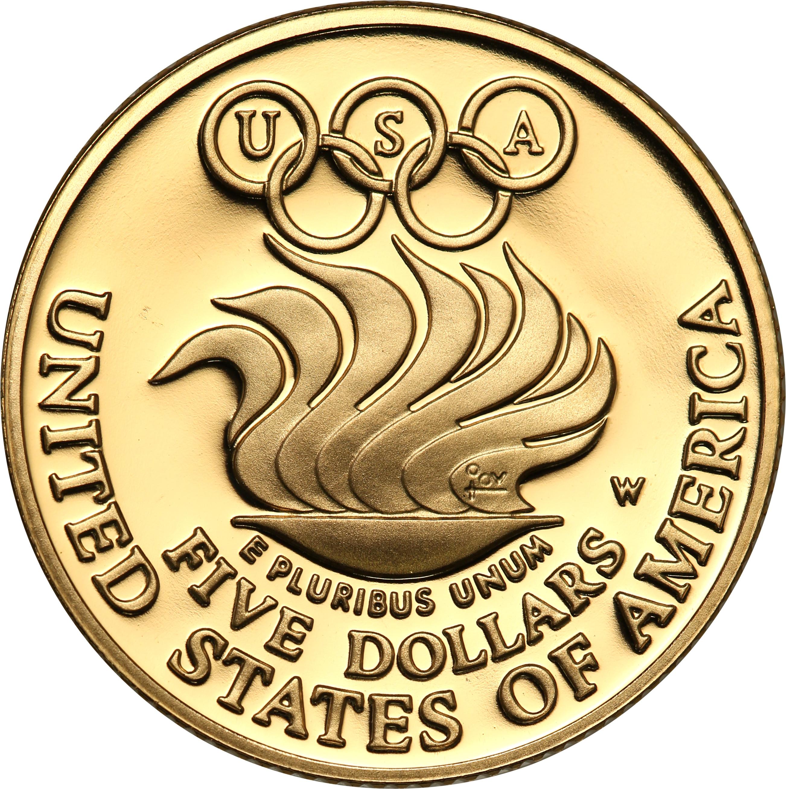 USA 5 dolarów 1988 Olimpiada Seul st.L