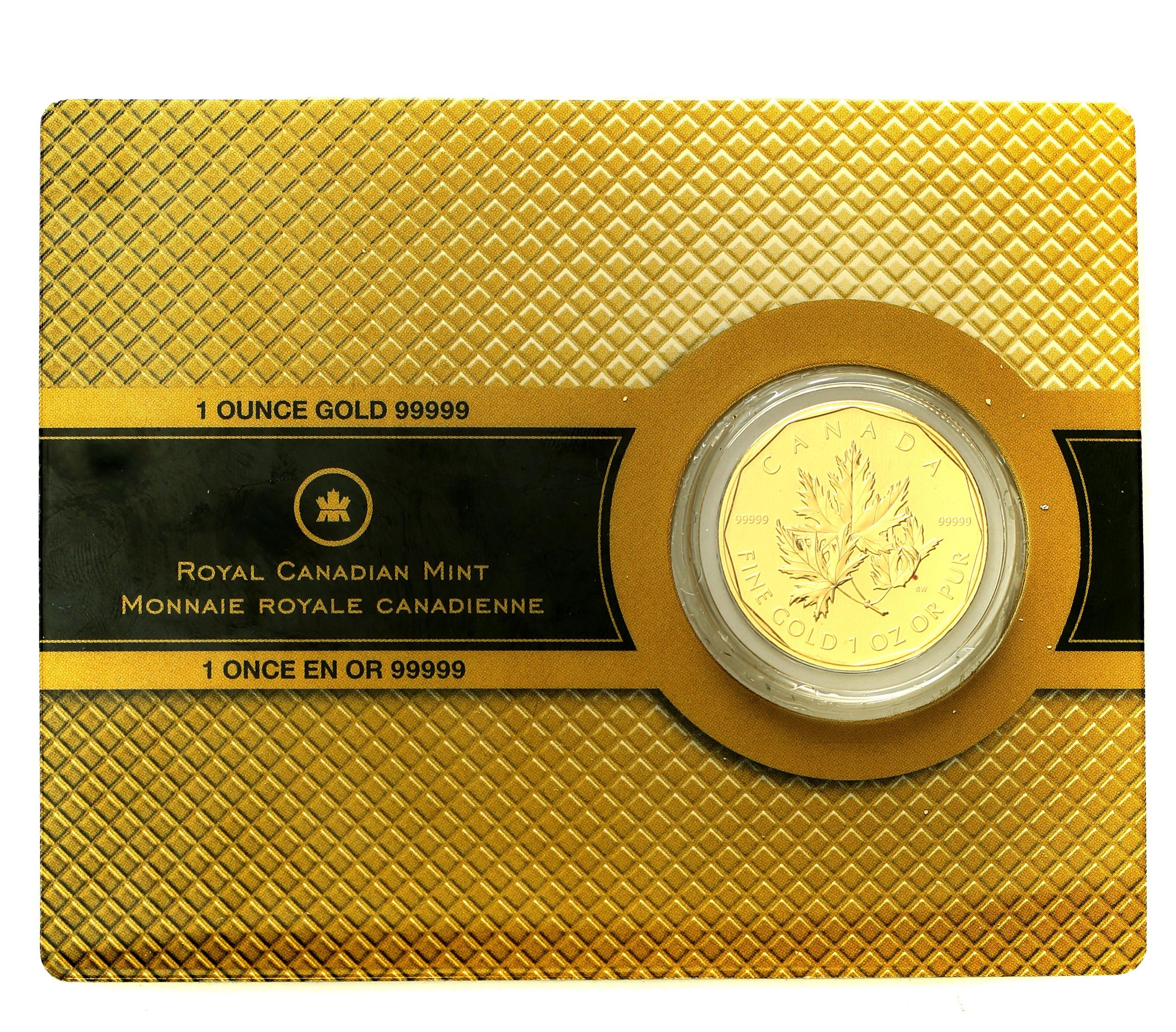 Kanada. 200 dolarów 2007 Liść klonowy z certyfikatem – Uncja złota st.1