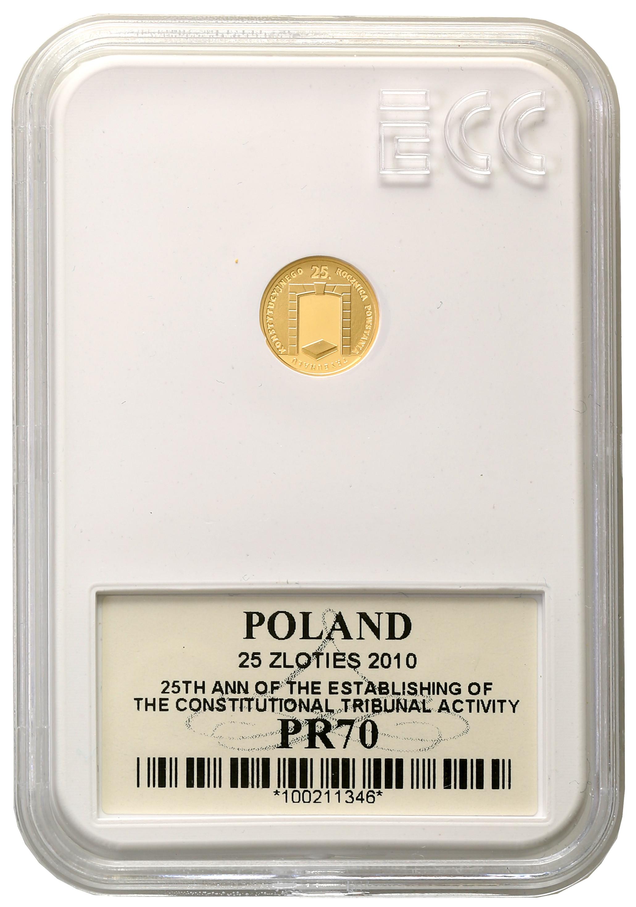 25 złotych 2010 Trybunał Konstytucyjny Grading PR70