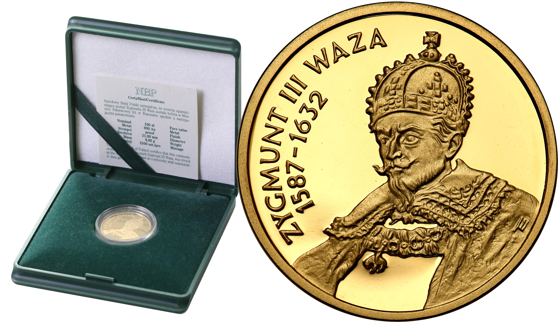 III RP 100 złotych 1998 Zygmunt III Waza st.L