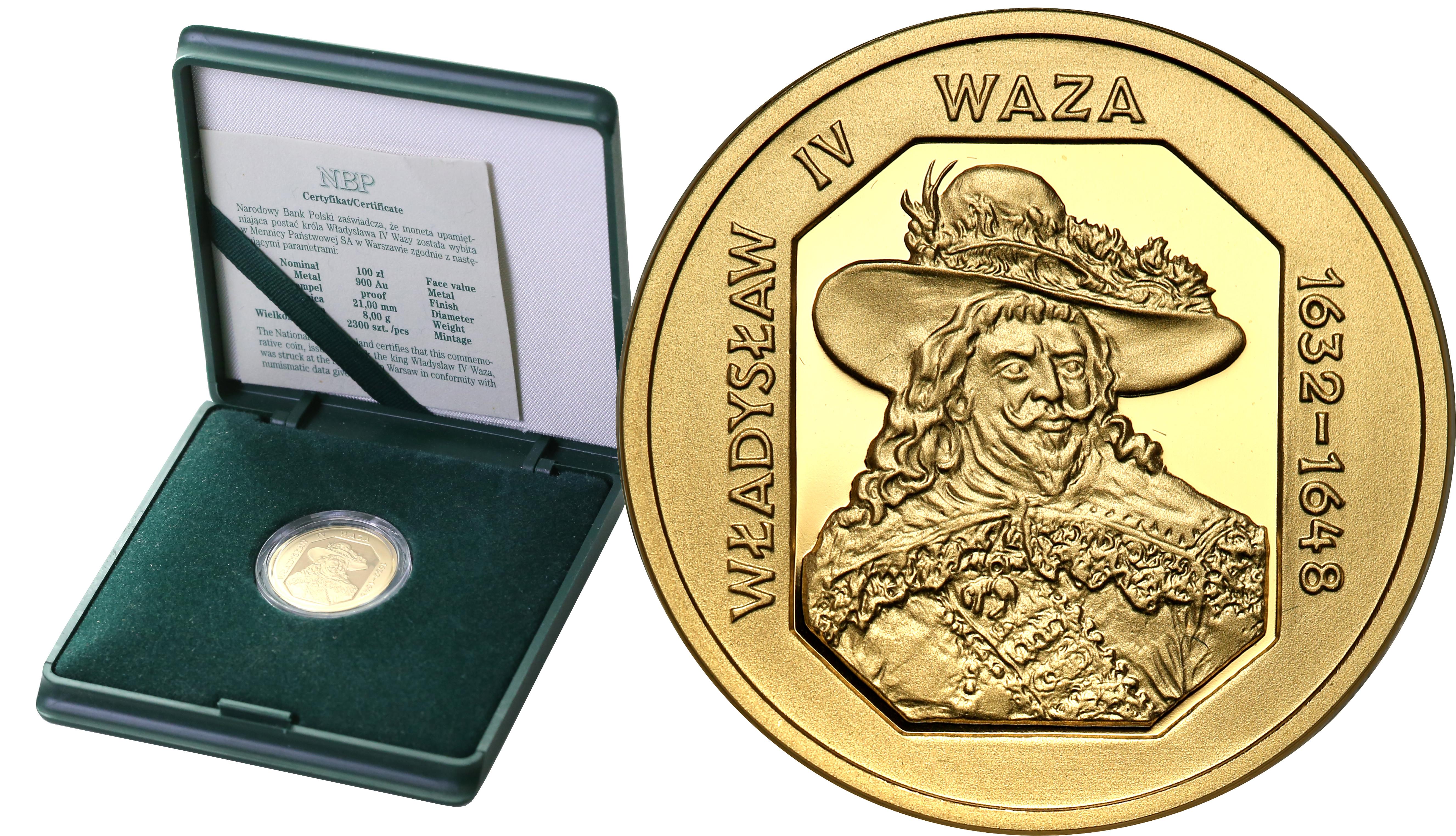 III RP 100 złotych 1999 Władysław IV Waza st.L