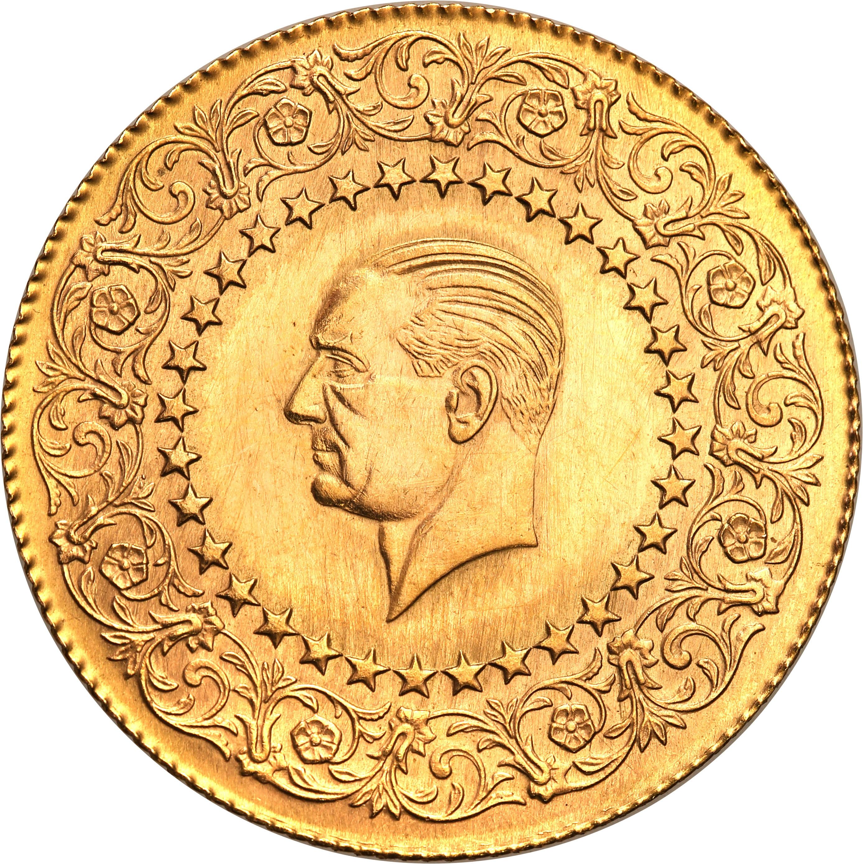 Turcja. 100 kurus de Luxe 1963 Prezydent Kemal Atatürk st.1-