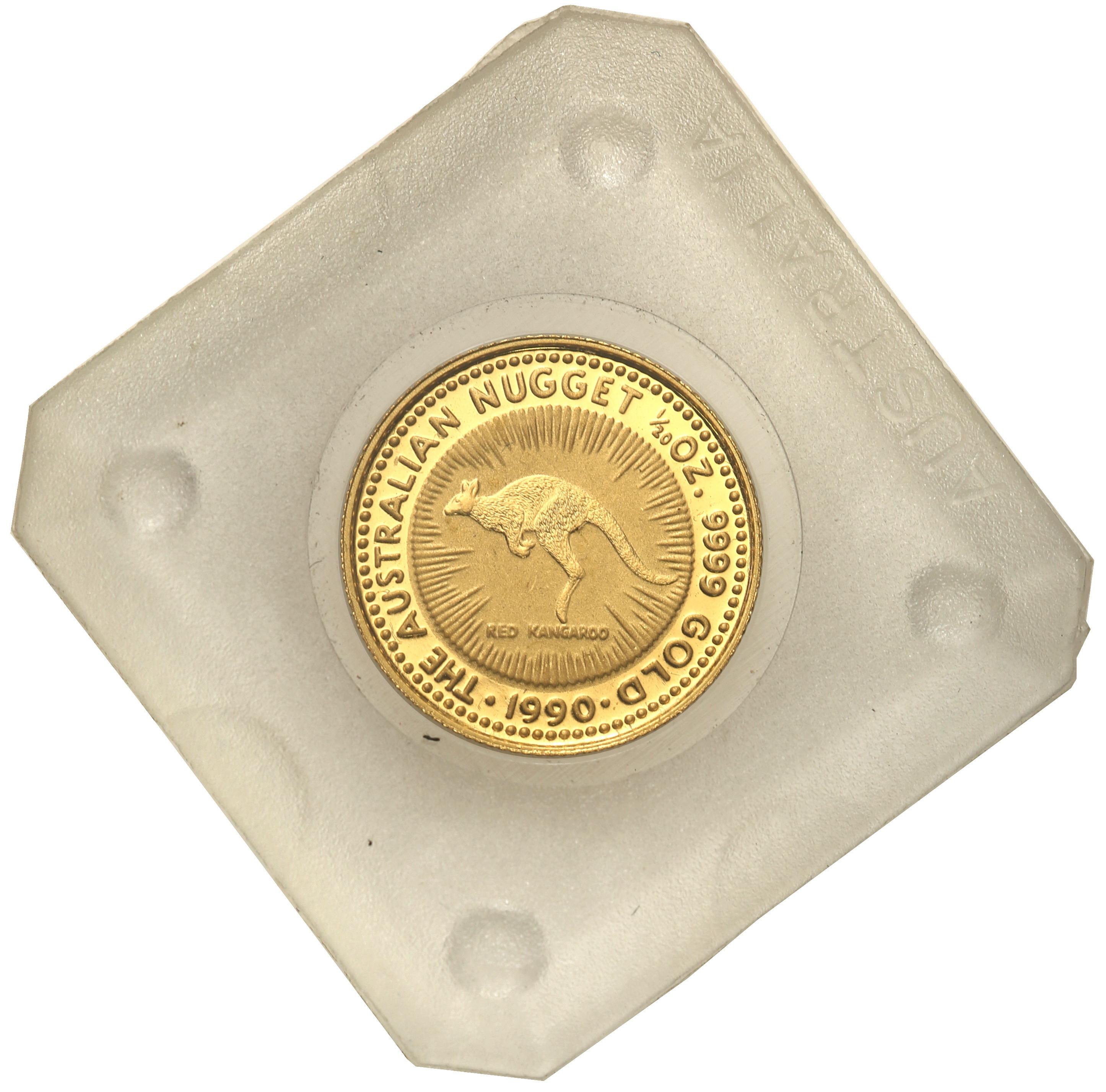 Australia. Elżbieta II 15 Dolarów 1990 kangur st.L – 1/10 uncji złota