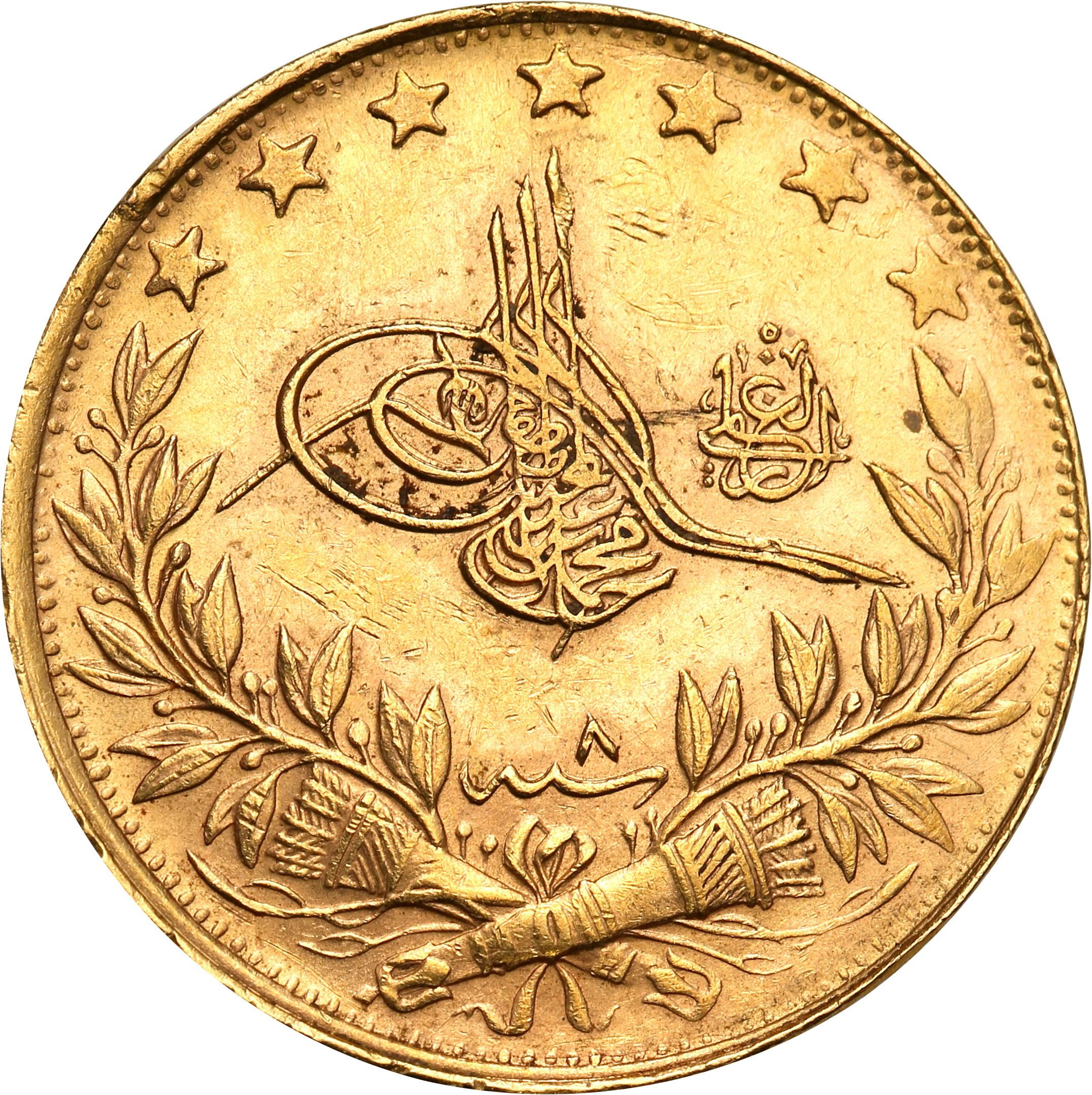 Turcja. 100 kurush 1327(7) AH = 1915 AD St.1