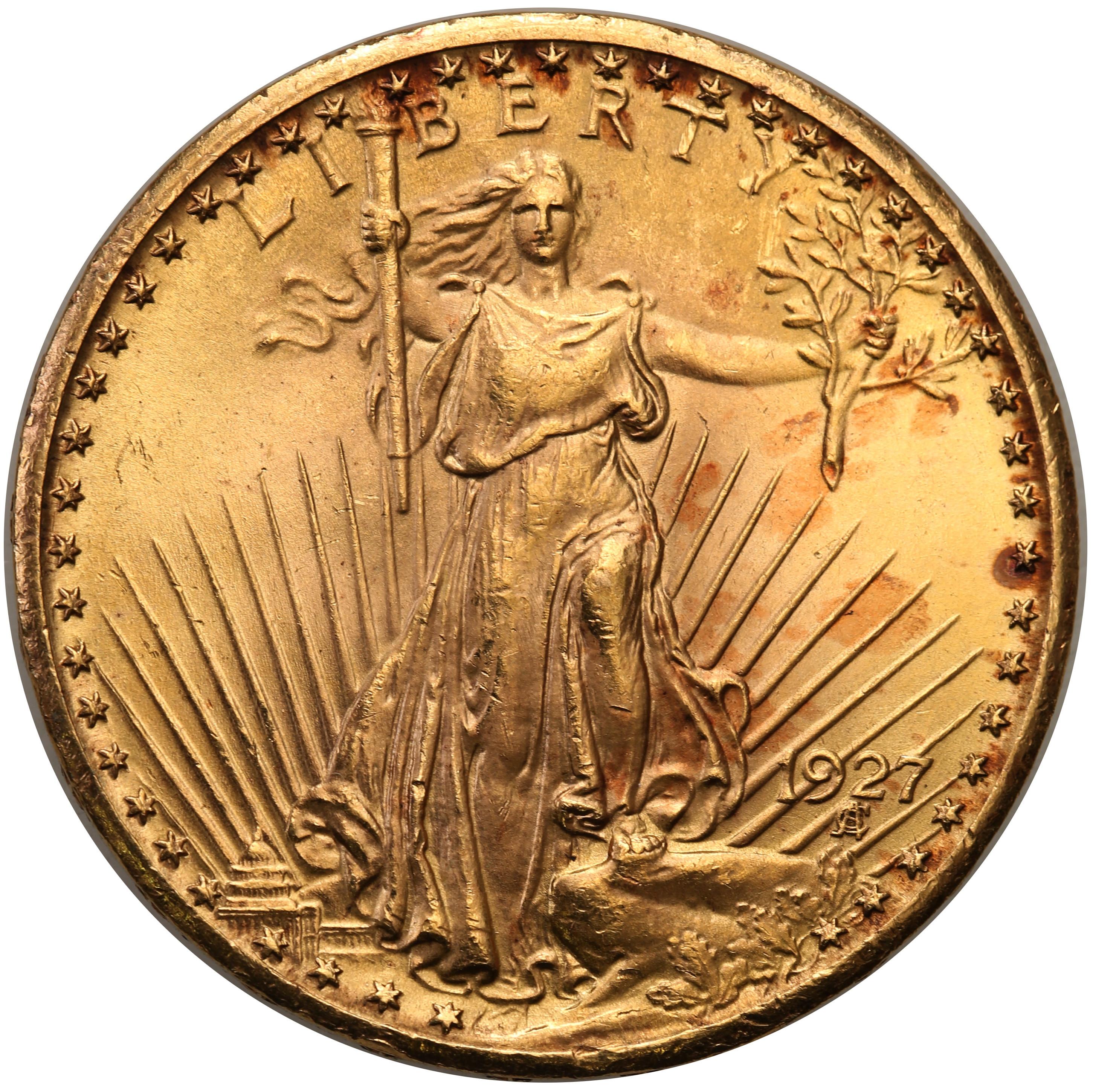 USA. 20 $ dolarów 1927 Philadelphia – PIĘKNE st.1