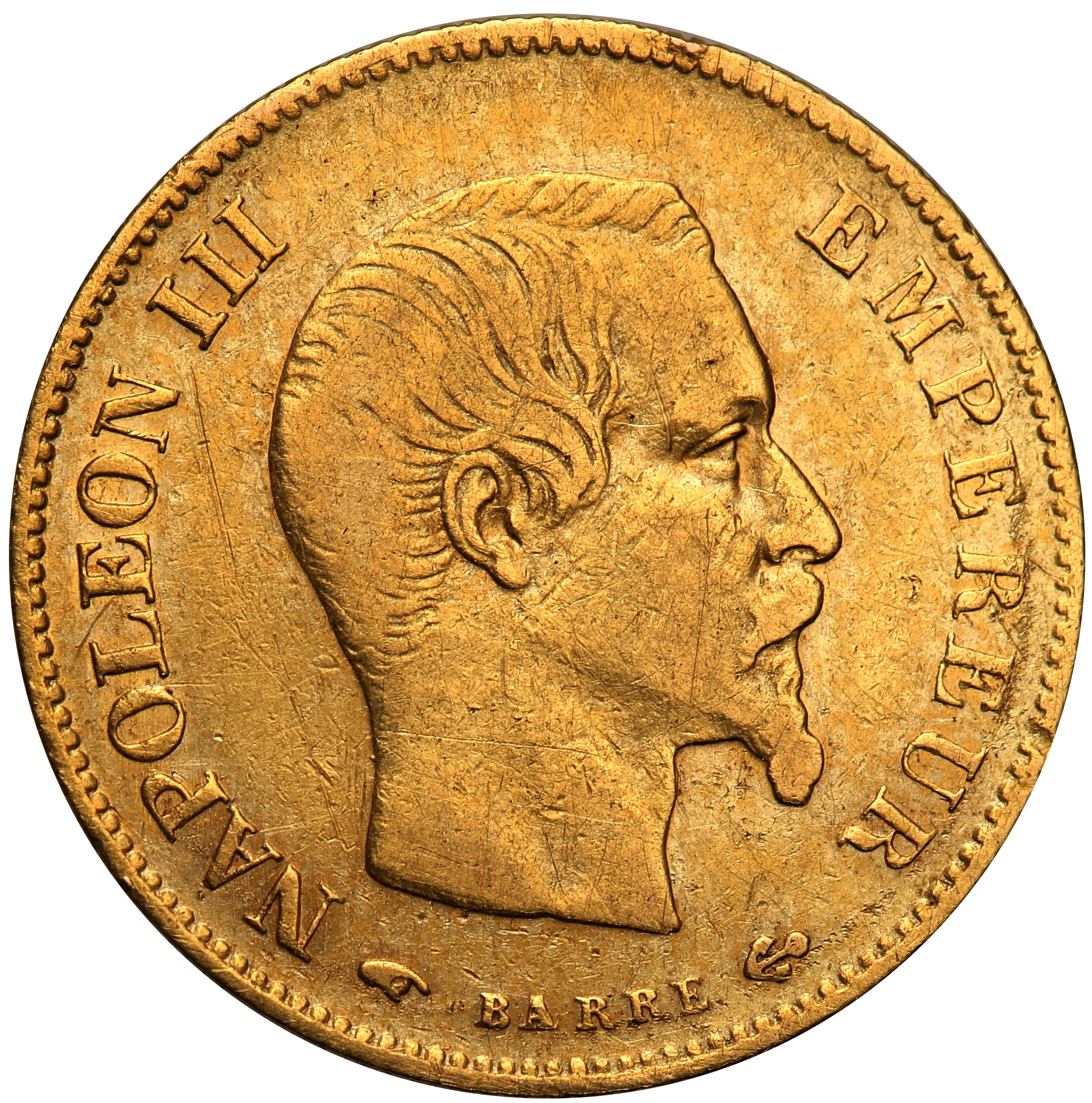 Francja. Napoleon III. 10 franków 1860 A st. 3+