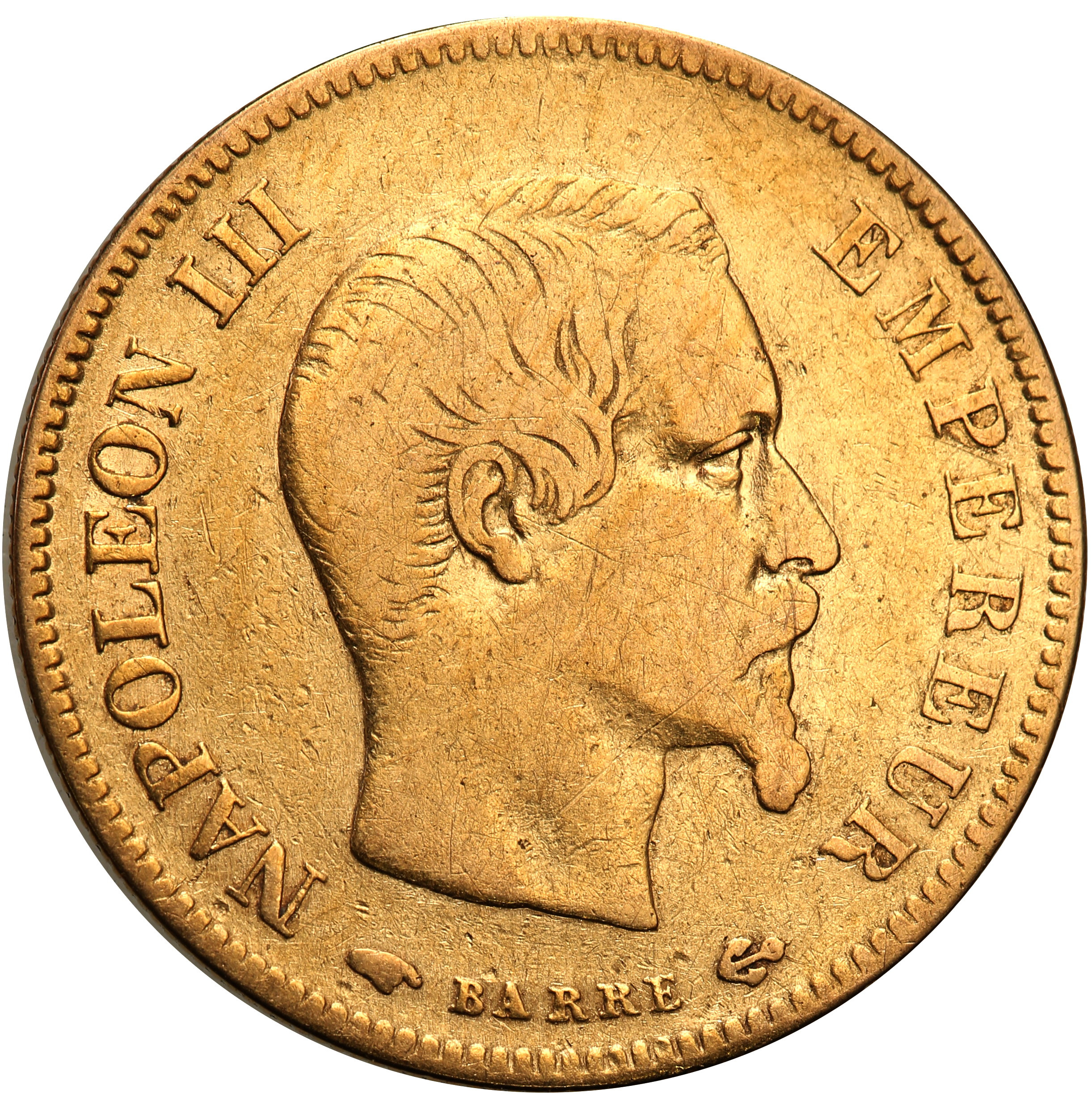 Francja. Napoleon III. 10 franków 1857 A st. 3+