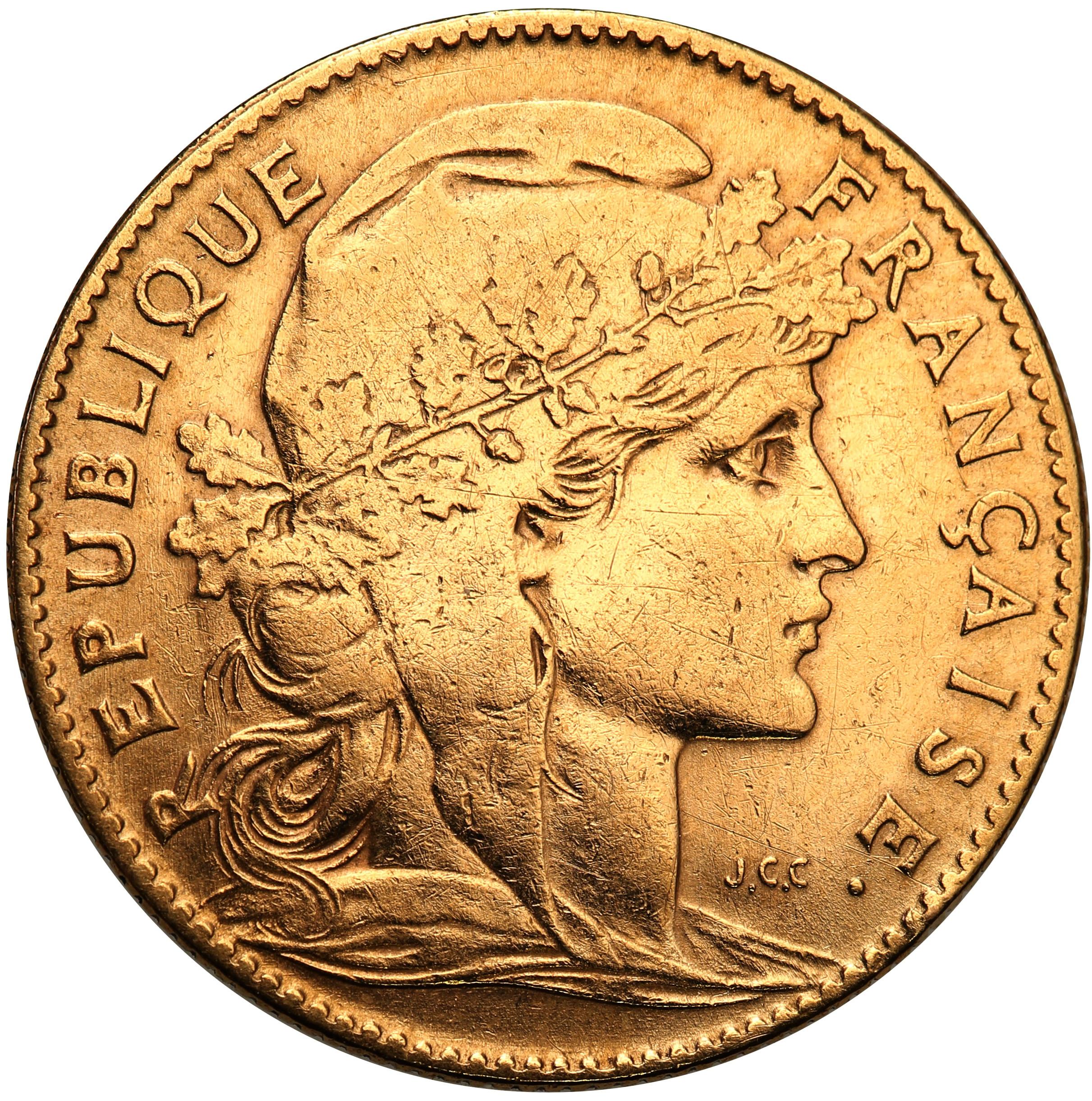 Francja. III Republika 10 franków 1906 A-Paryż st. 3