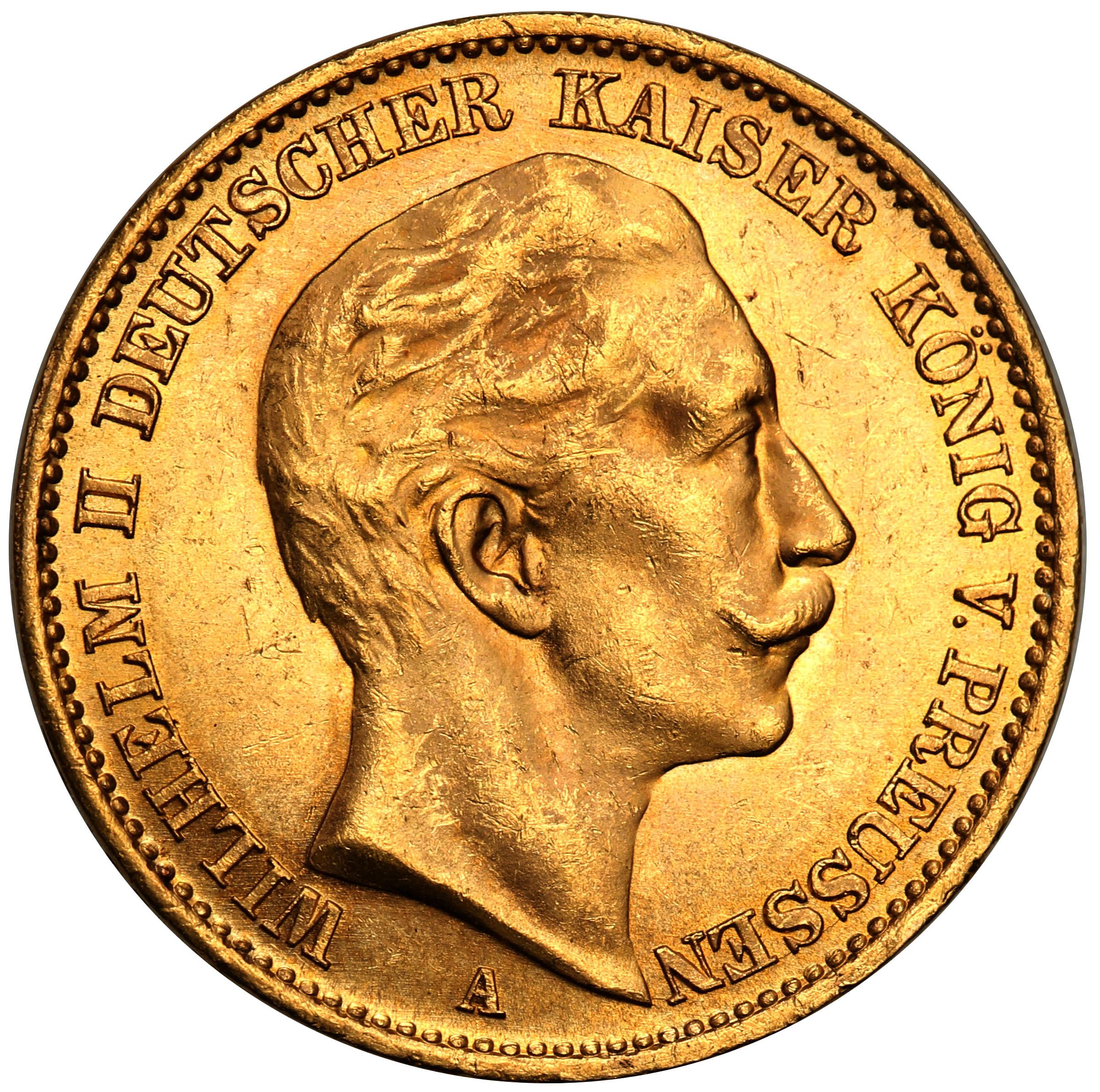 Niemcy Prusy. 20 Marek 1912 A st.1 PIĘKNE