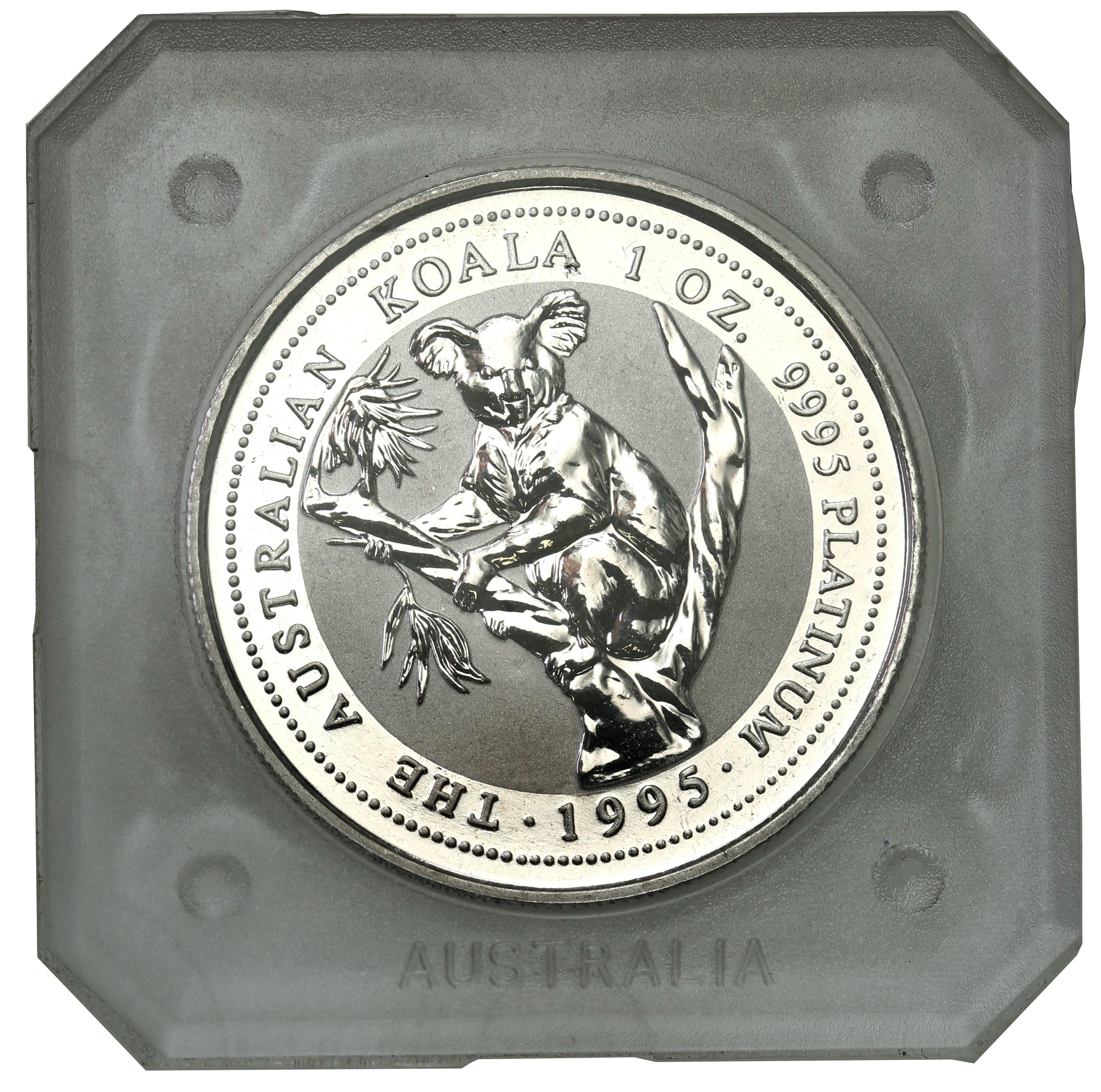 Australia. Elżbieta II 100 dolarów 1995 Koala - 1 uncja platyny - st. L