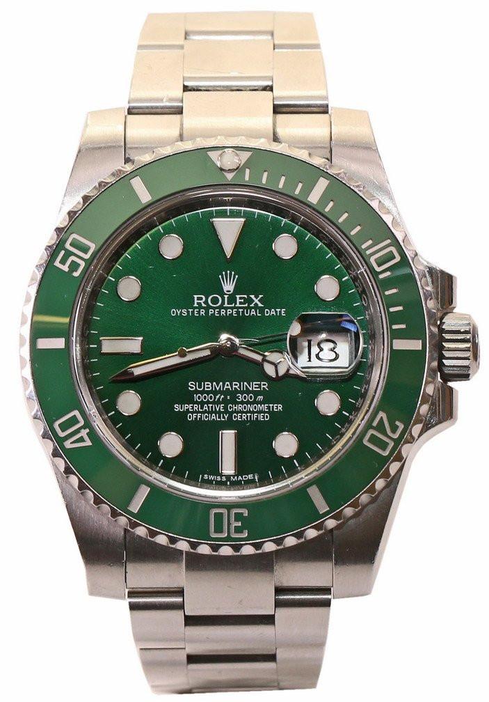 Zegarek Rolex Submariner Date 116610LV Hulk- Zielony