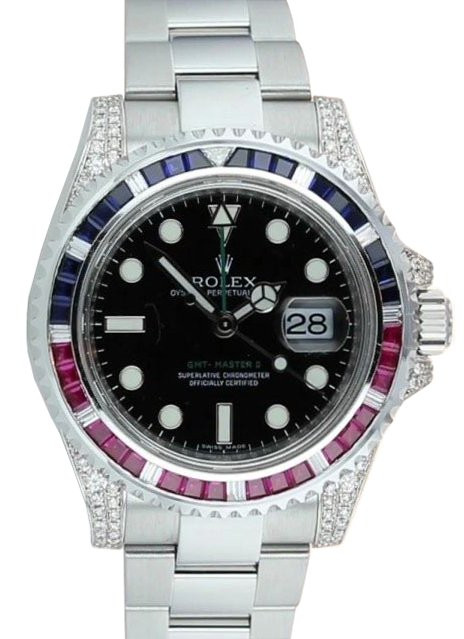 Zegarek Rolex GMT-MASTER II 116710LN - Szafiry / rubiny / diamenty