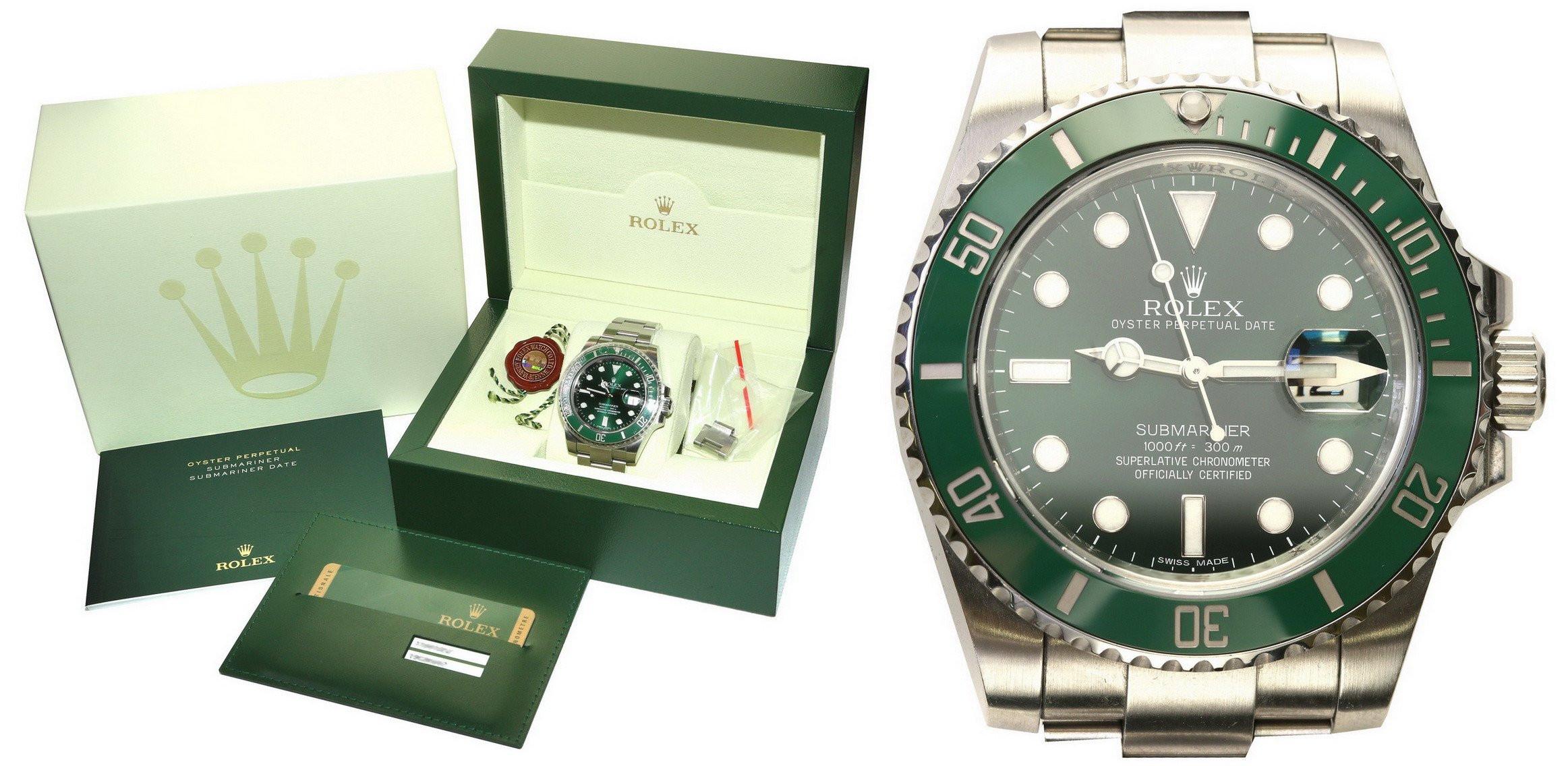 """Zegarek Rolex Submariner zielony 116610LV """"Hulk"""""""
