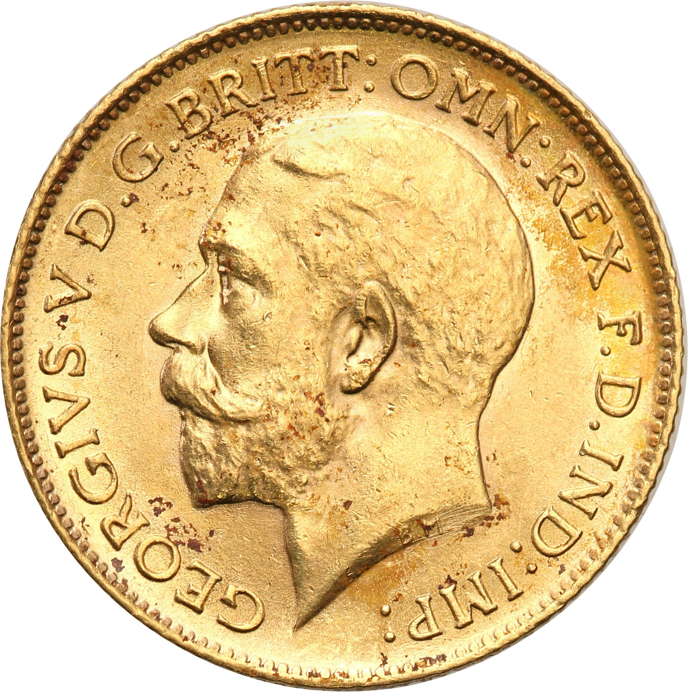 Wielka Brytania 1/2 suwerena 1912 st.1