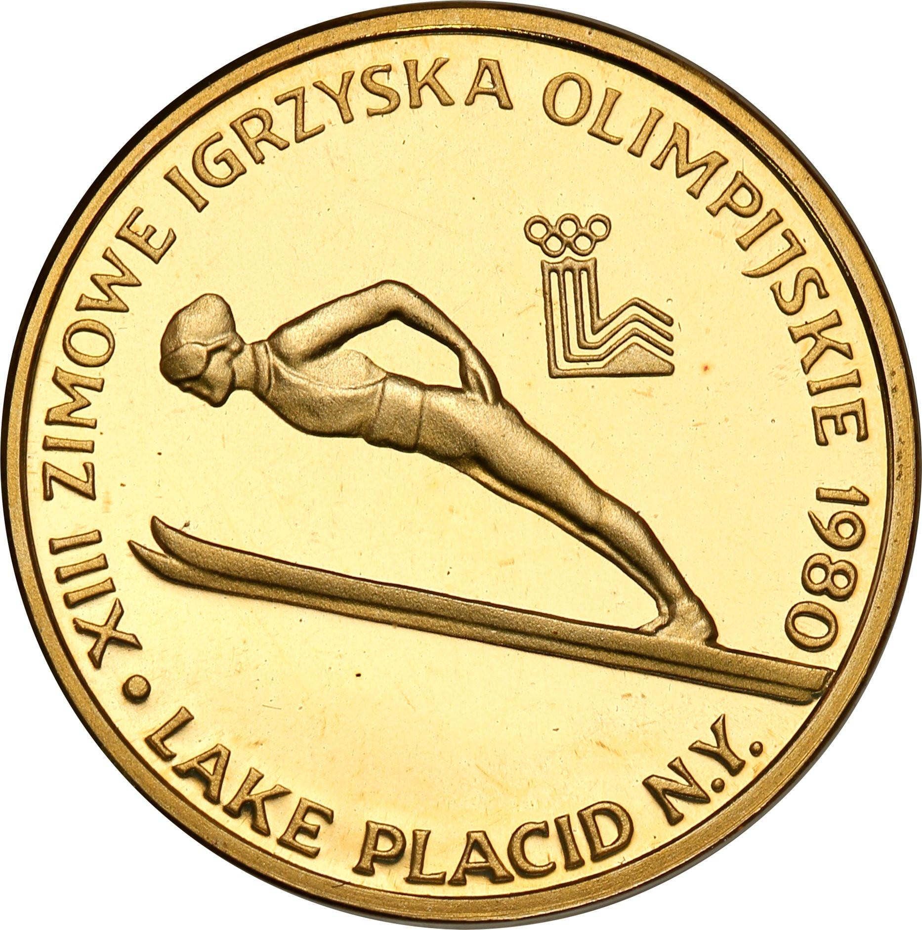 PRL 2000 złotych 1980 XIII Zimowe Igrzyska Olimpijskie Lake Placid st.L