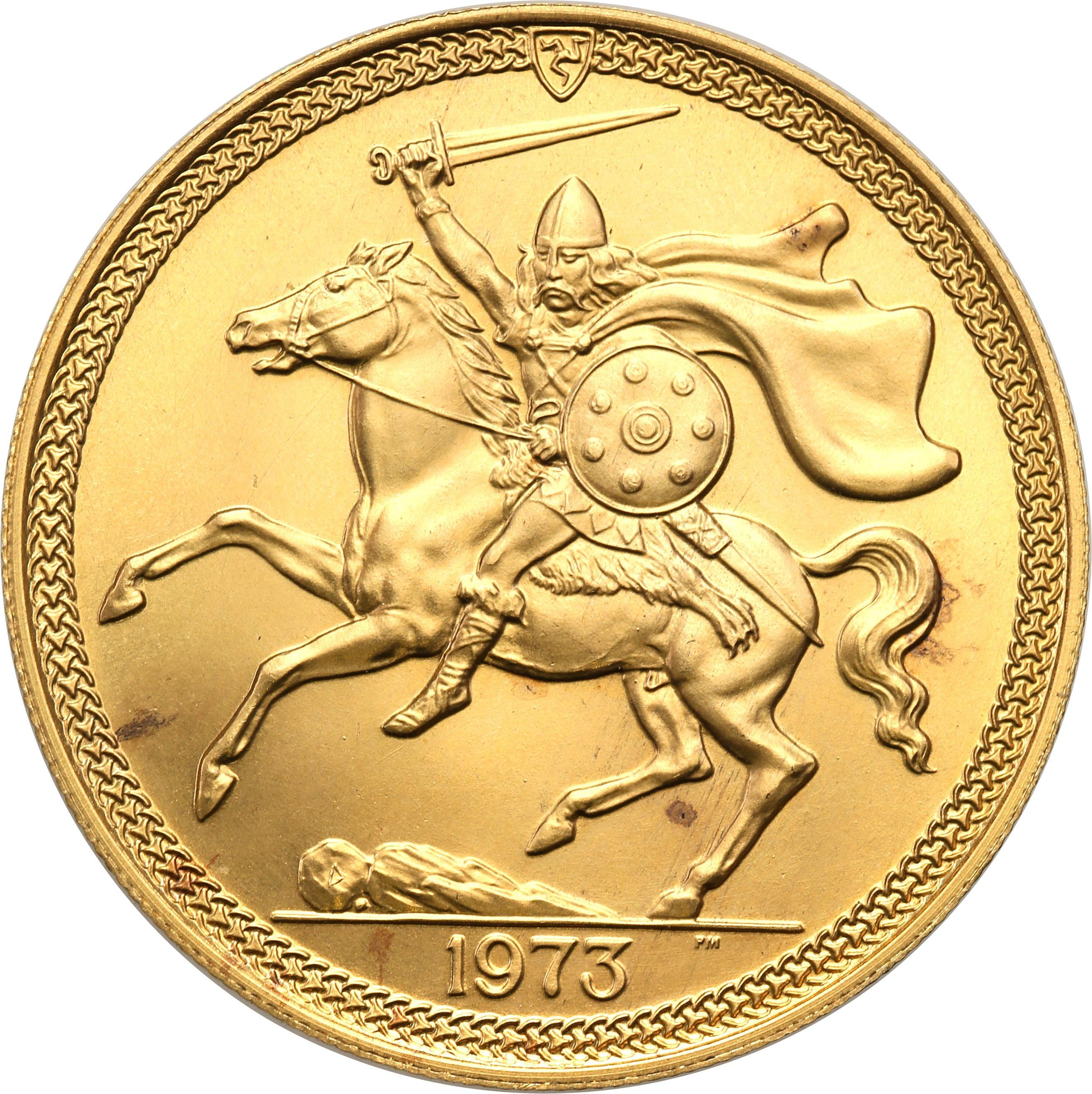 Isle of Man. Elżbieta II. 5 suwerenów (funtów) 1973 – Złoto