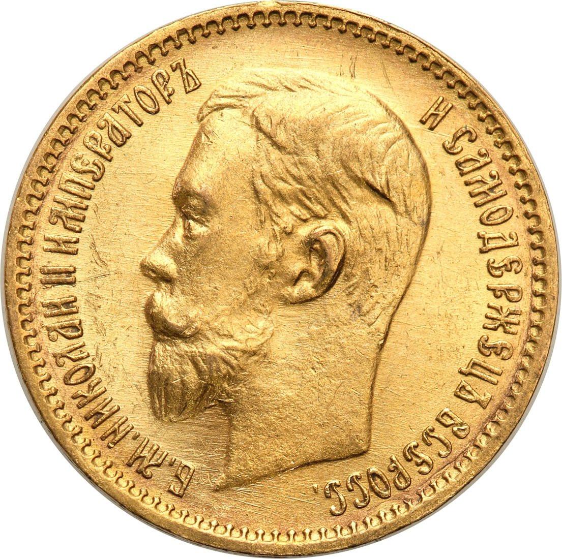 Rosja Mikołaj II 5 Rubli 1903 AP