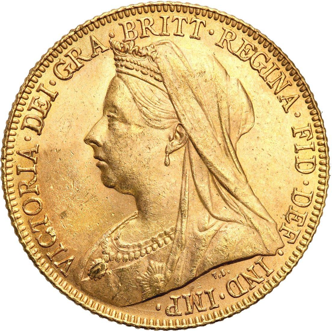 Wielka Brytania. Królowa Vicotria. 1 suweren 1900