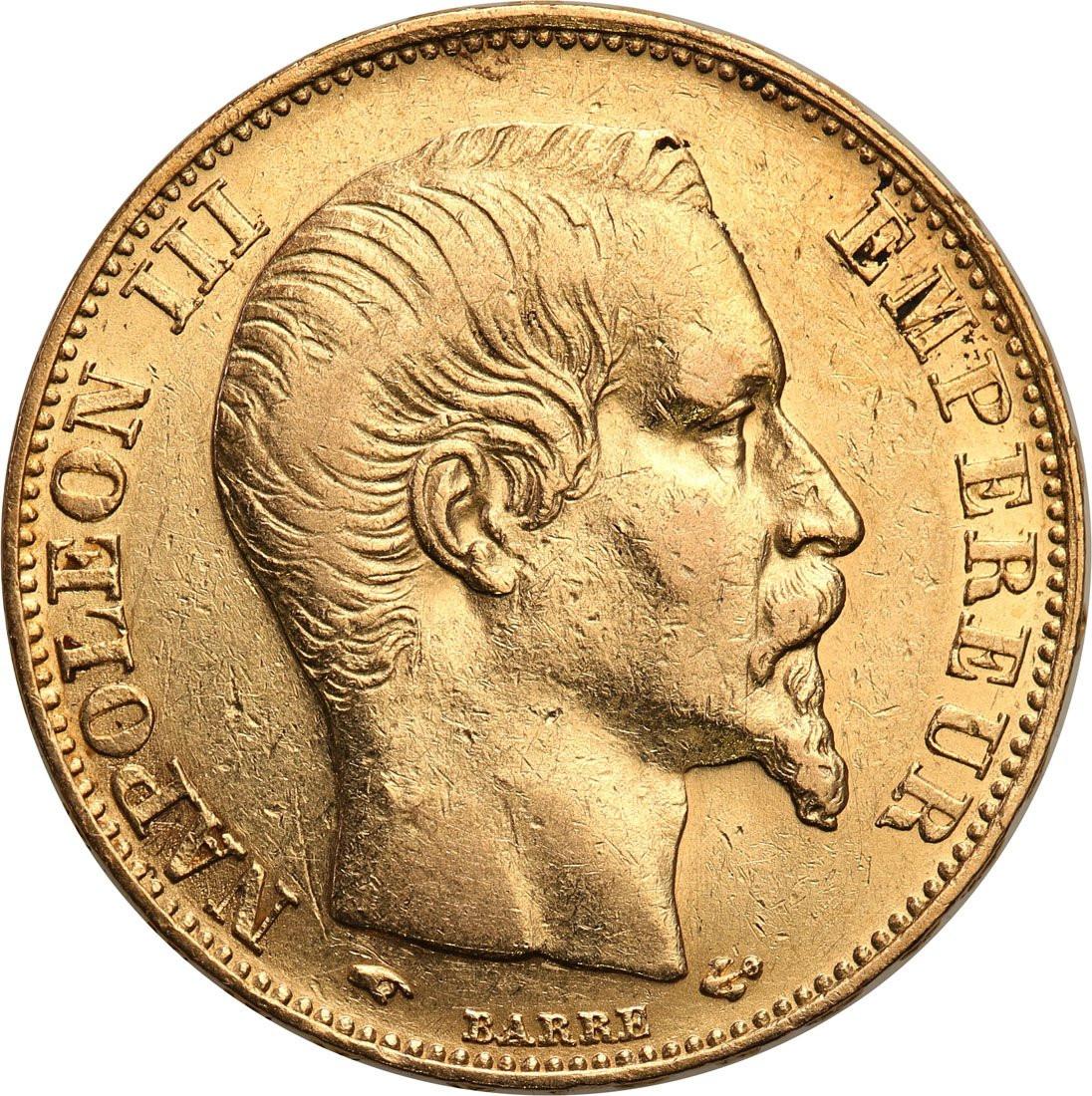 Francja Napoleon III 20 franków 1858 A Paryż