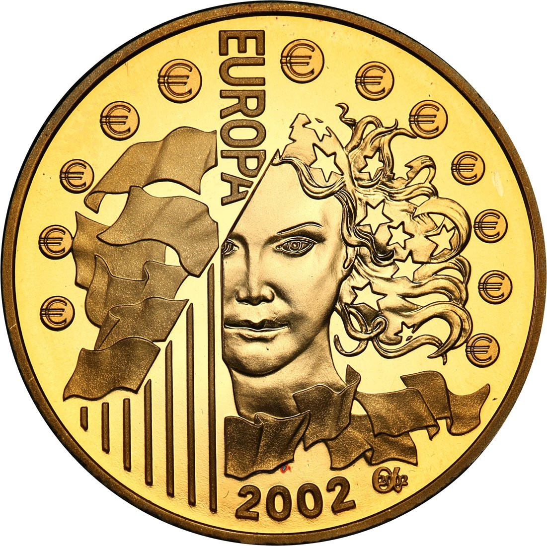 Francja 10 Euro 2002 - 200 lat franka francuskiego