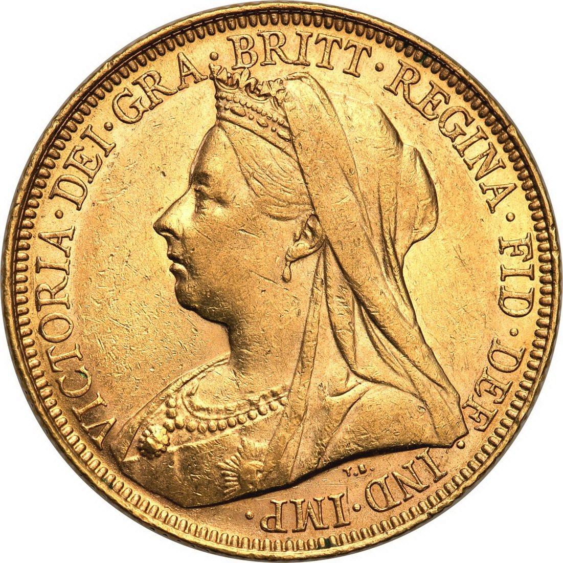Wielka Brytania. Victoria 1 suweren 1900