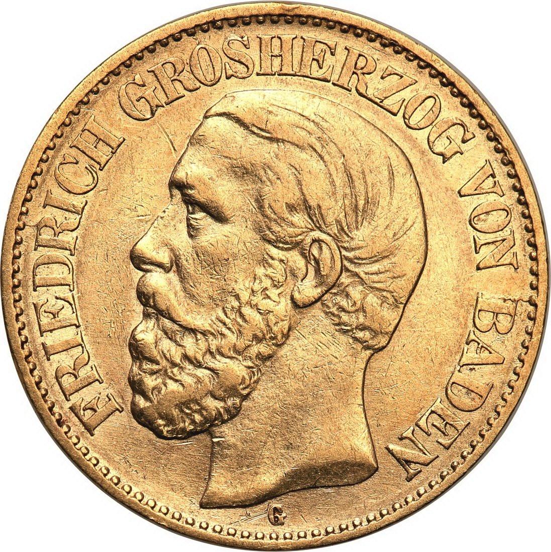 Niemcy Badenia 10 Marek 1876 G