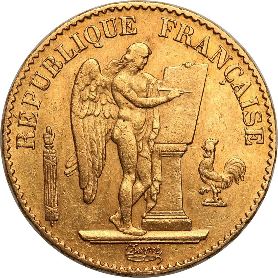Francja III Republika. 20 franków 1877 A-Paryż - ANIOŁ