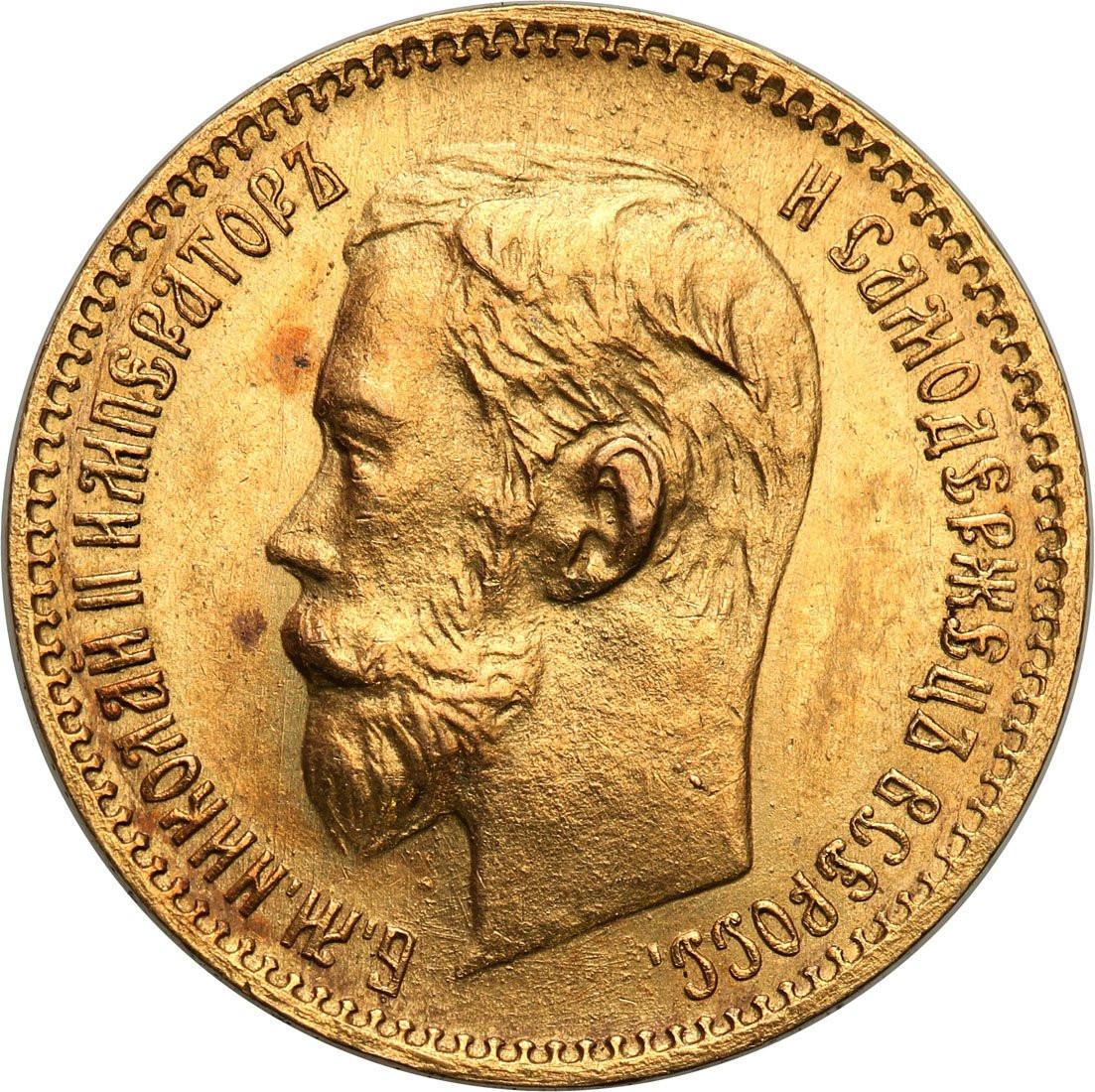 Rosja. Mikołaj II. 5 rubli 1902 (AP), Petersburg