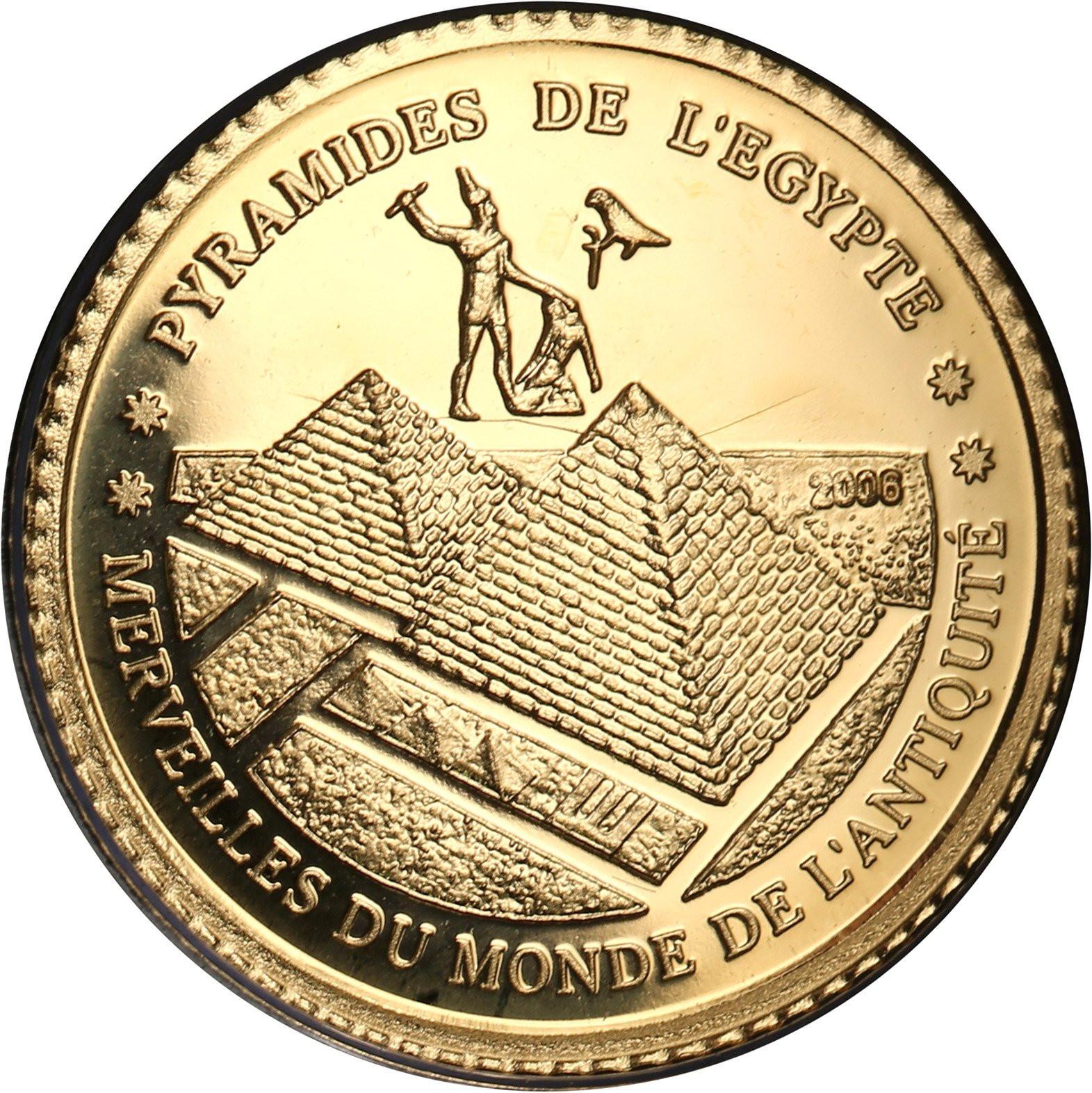 Wybrzeże Kości Słoniowej 1500 franków 2006 Piramidy w Gizie