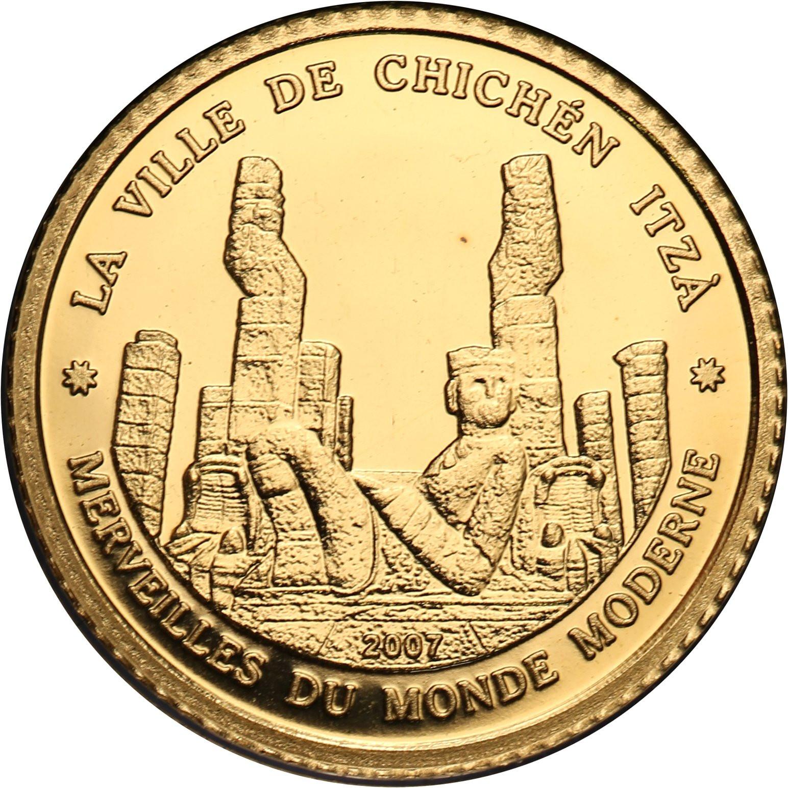 Wybrzeże Kości Słoniowej 1500 franków 2007 Chichen Itza
