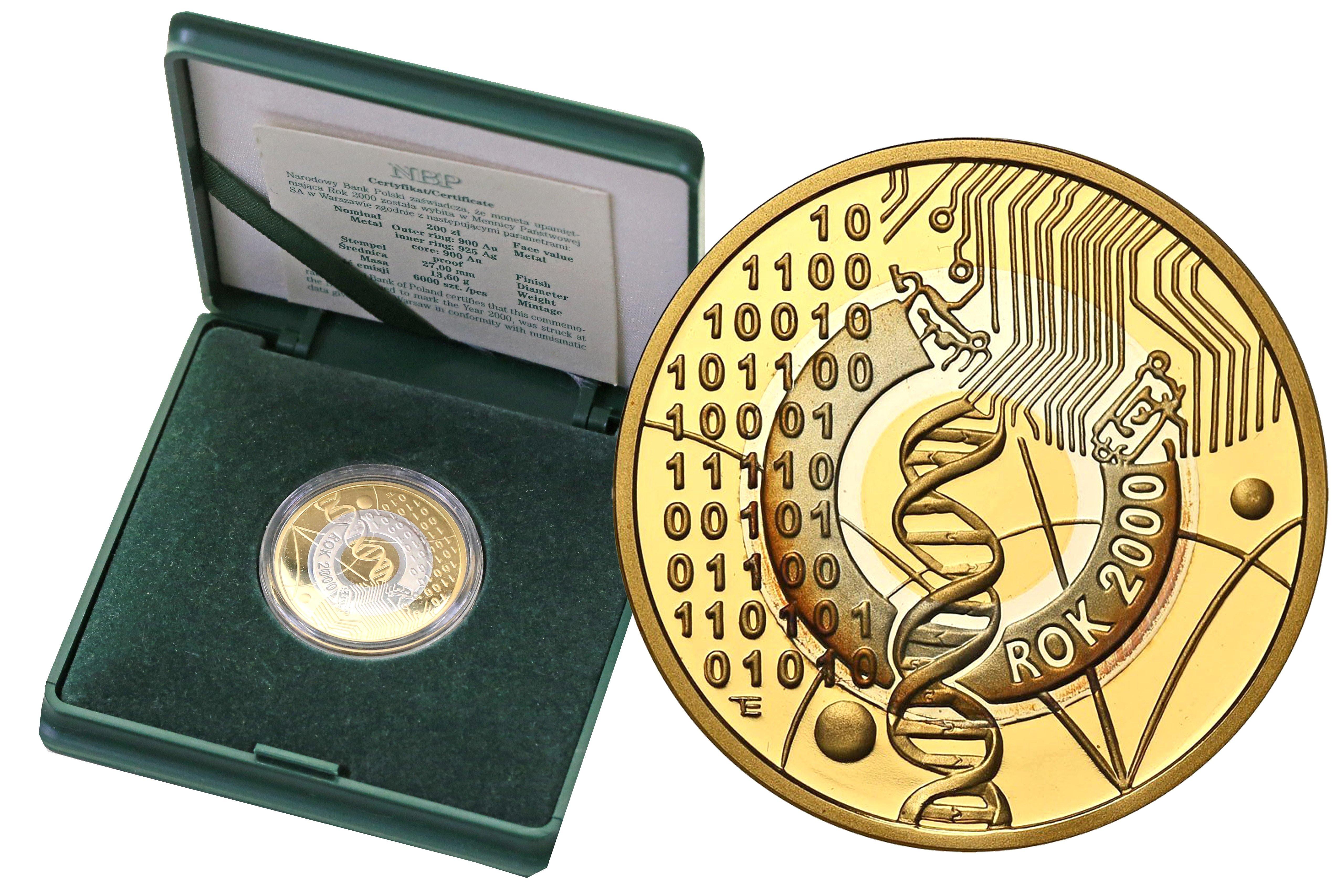 III RP 200 złotych 2000 Rok 2000 Au/Ag