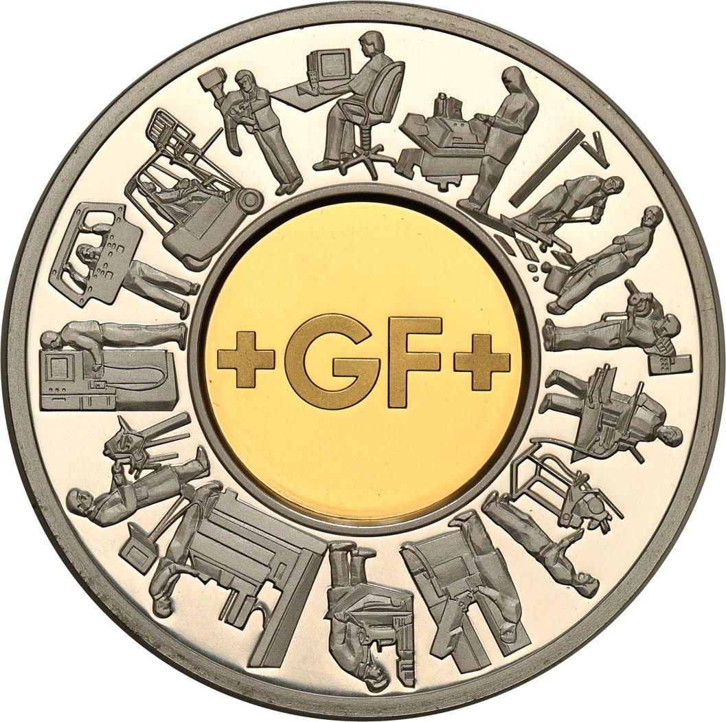Szwajcaria medal Georg Fischer 2002 Złoto + Srebro