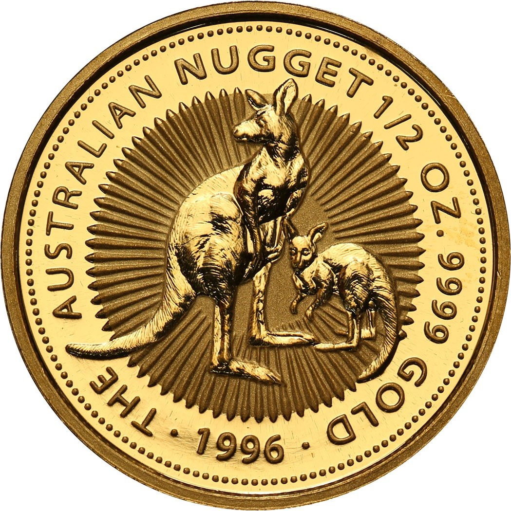 Australia 50 dolarów 1996 (1/2 oz Au) kangur