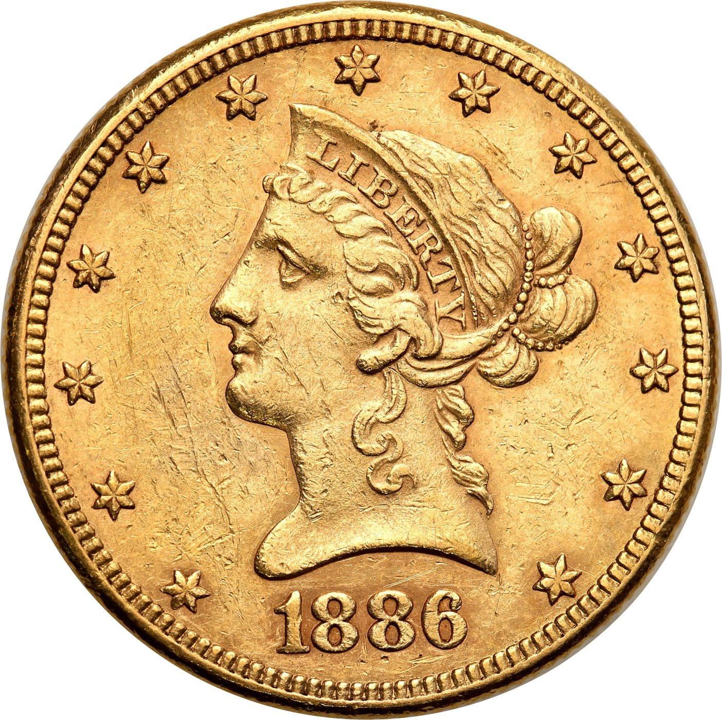 USA 10 dolarów 1886 Filadelfia Liberty