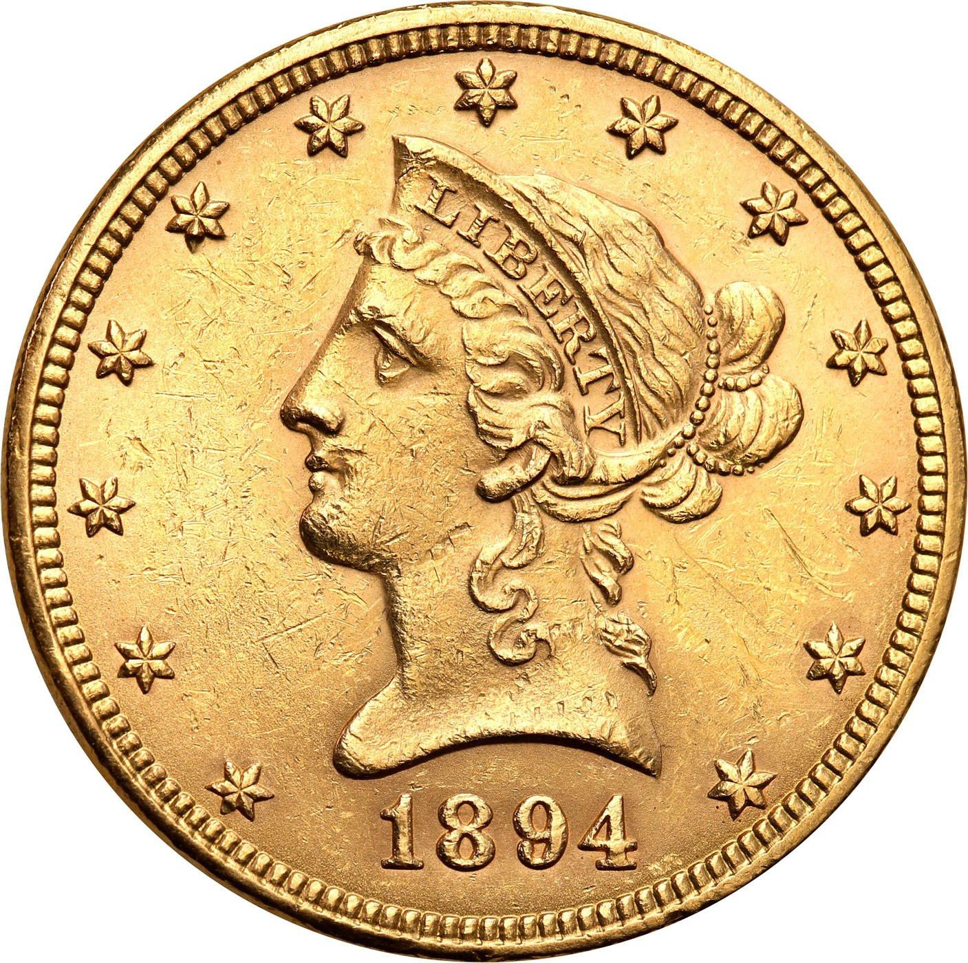 USA. 10 dolarów Liberty 1894 Filadelfia