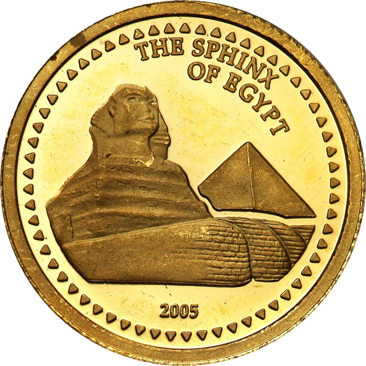 Kongo 1500 franków 2005 (1/25 uncji Au) Sfinks st. L
