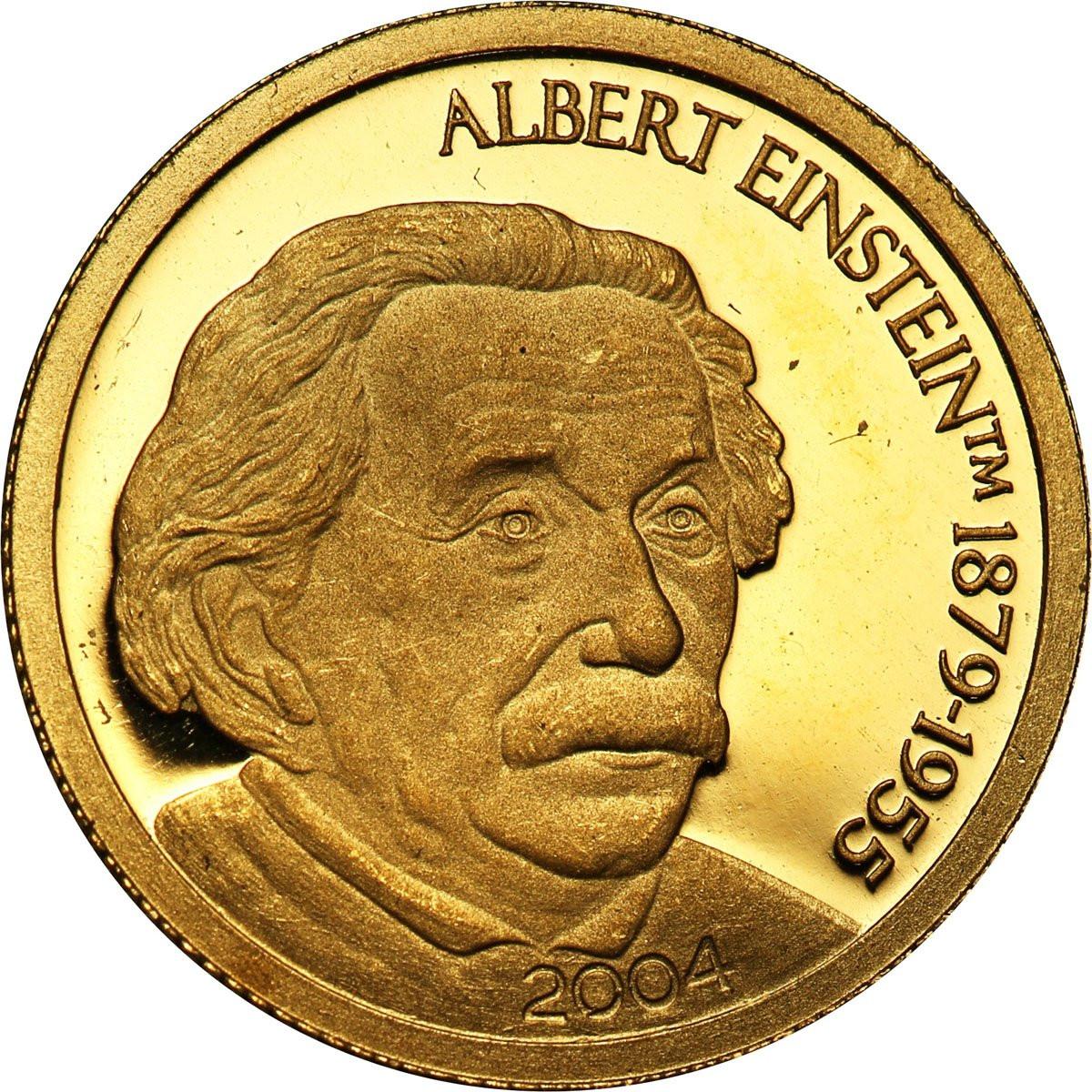 Mariany Północne 5 dolarów 2004 (1/25 uncji Au) Einsten st. L